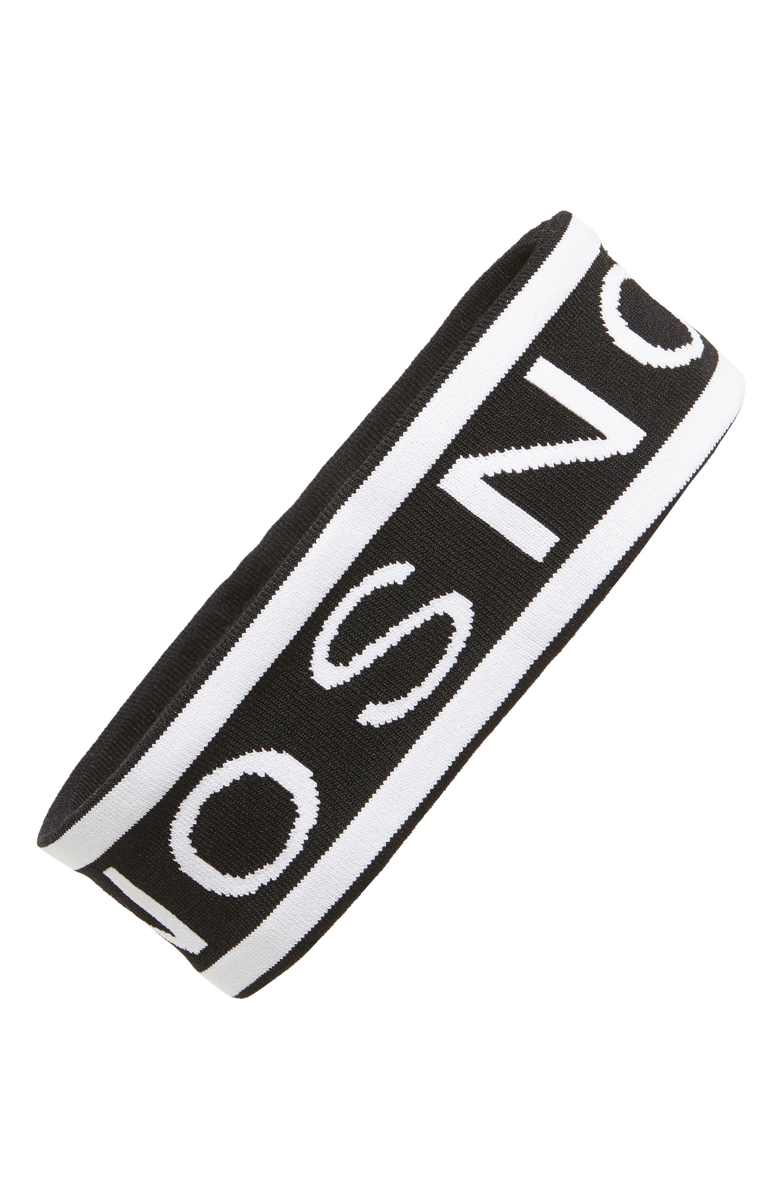 Sno Intarsia Knit Ear Warmer Headband, Main, color, 001