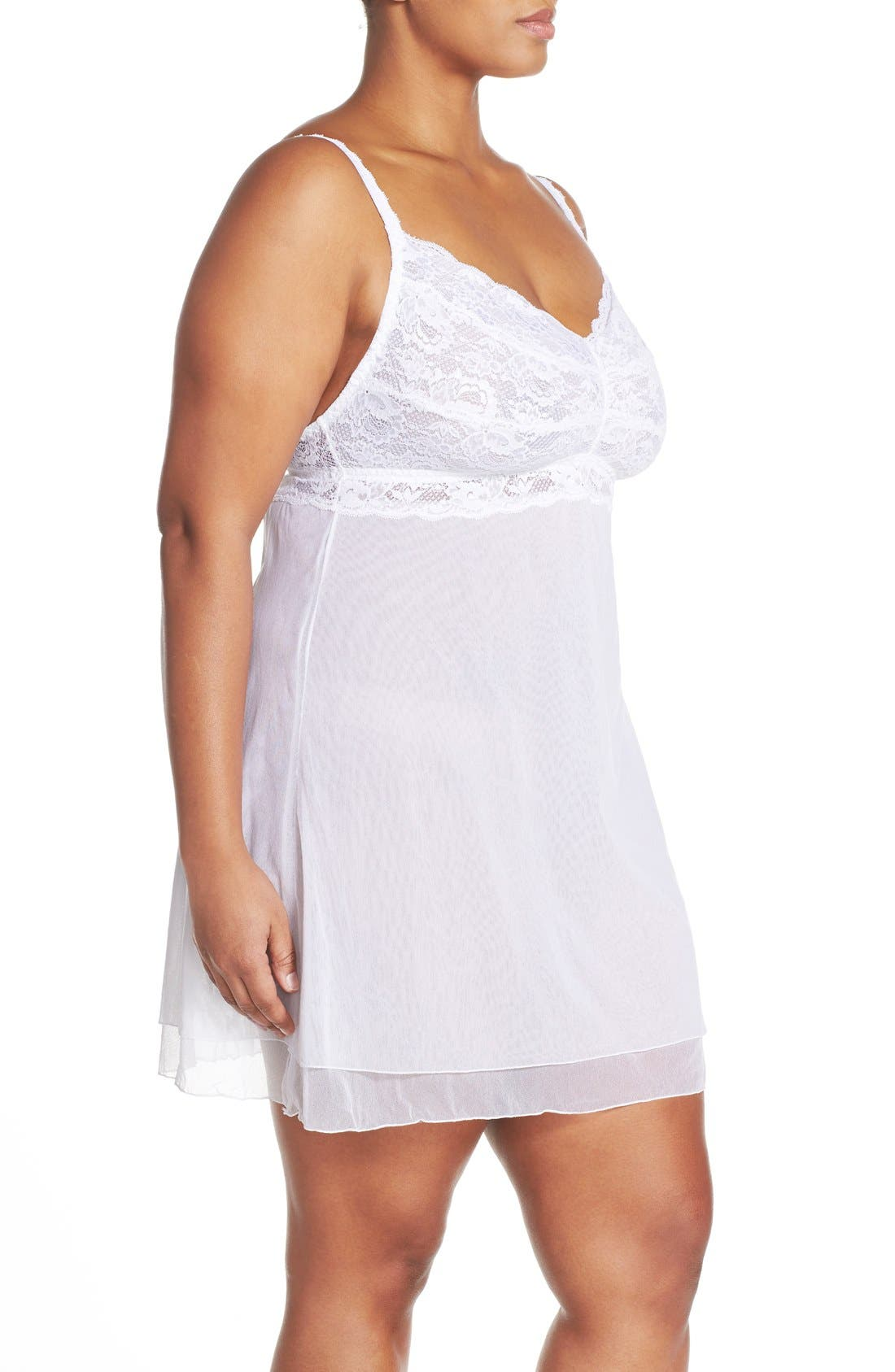 'Never Say Never' Babydoll Chemise,                             Alternate thumbnail 15, color,