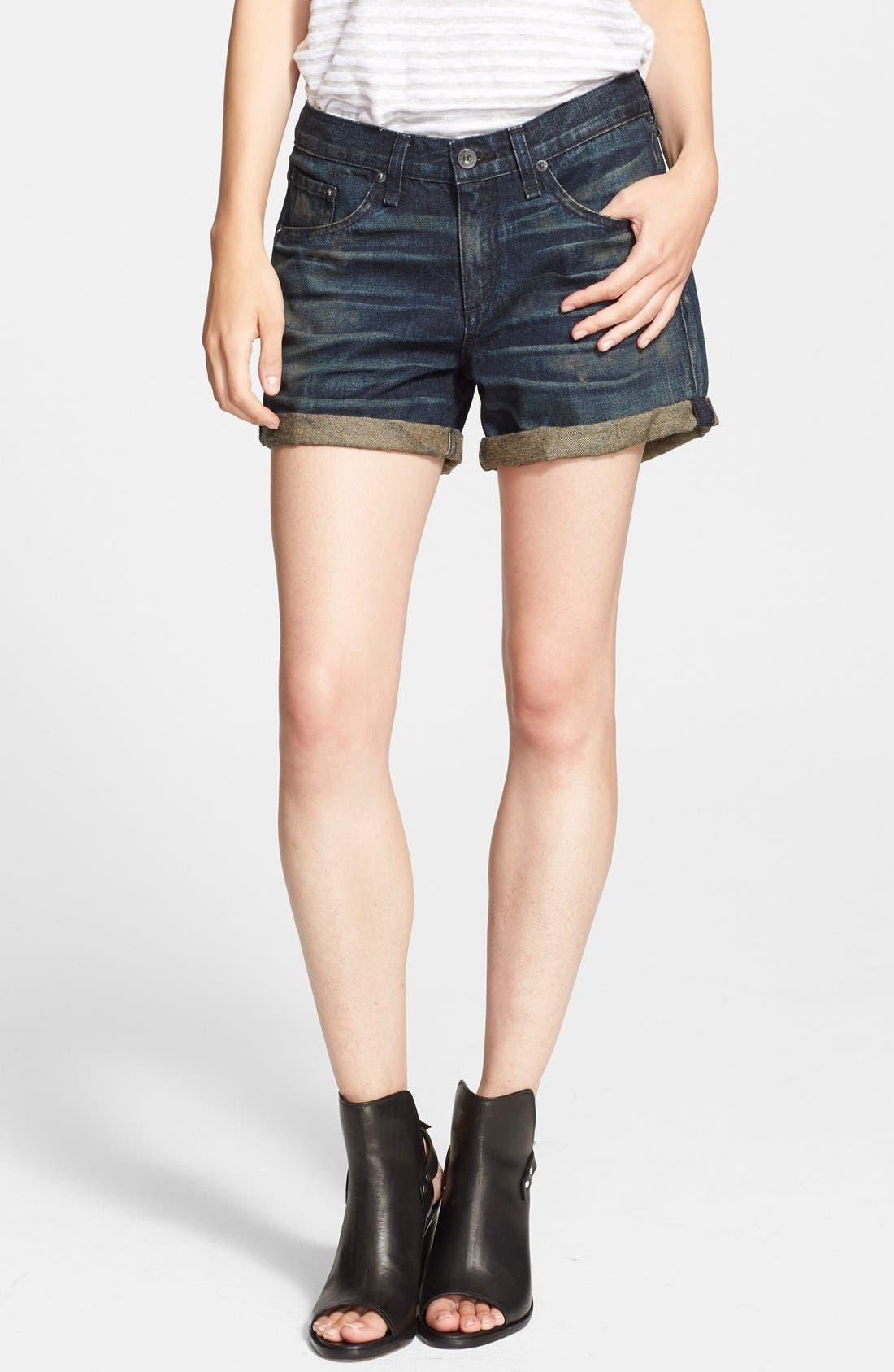 'The Boyfriend' Denim Shorts,                         Main,                         color, 400