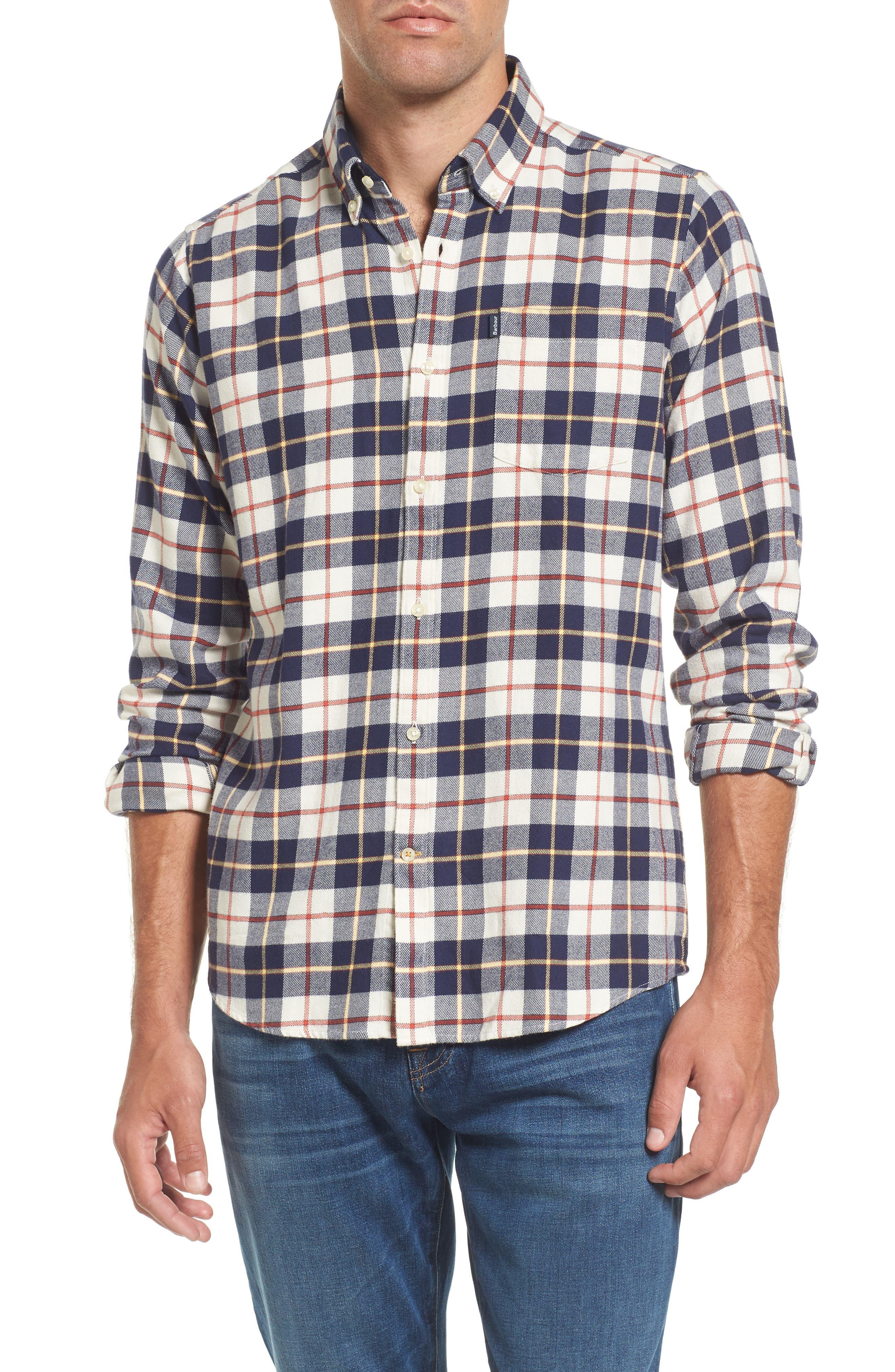 Blake Plaid Sport Shirt,                         Main,                         color, 270