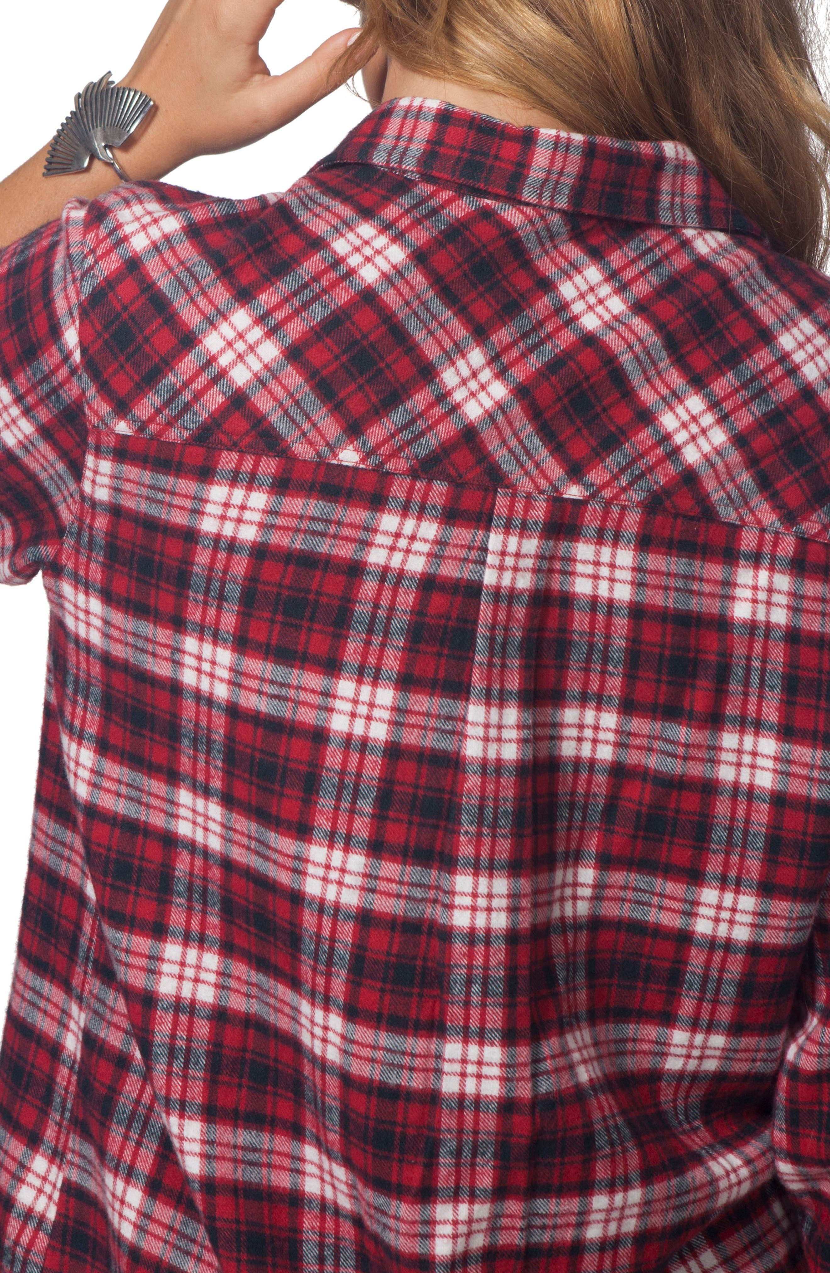 Bonfire Flannel Top,                             Alternate thumbnail 3, color,                             600