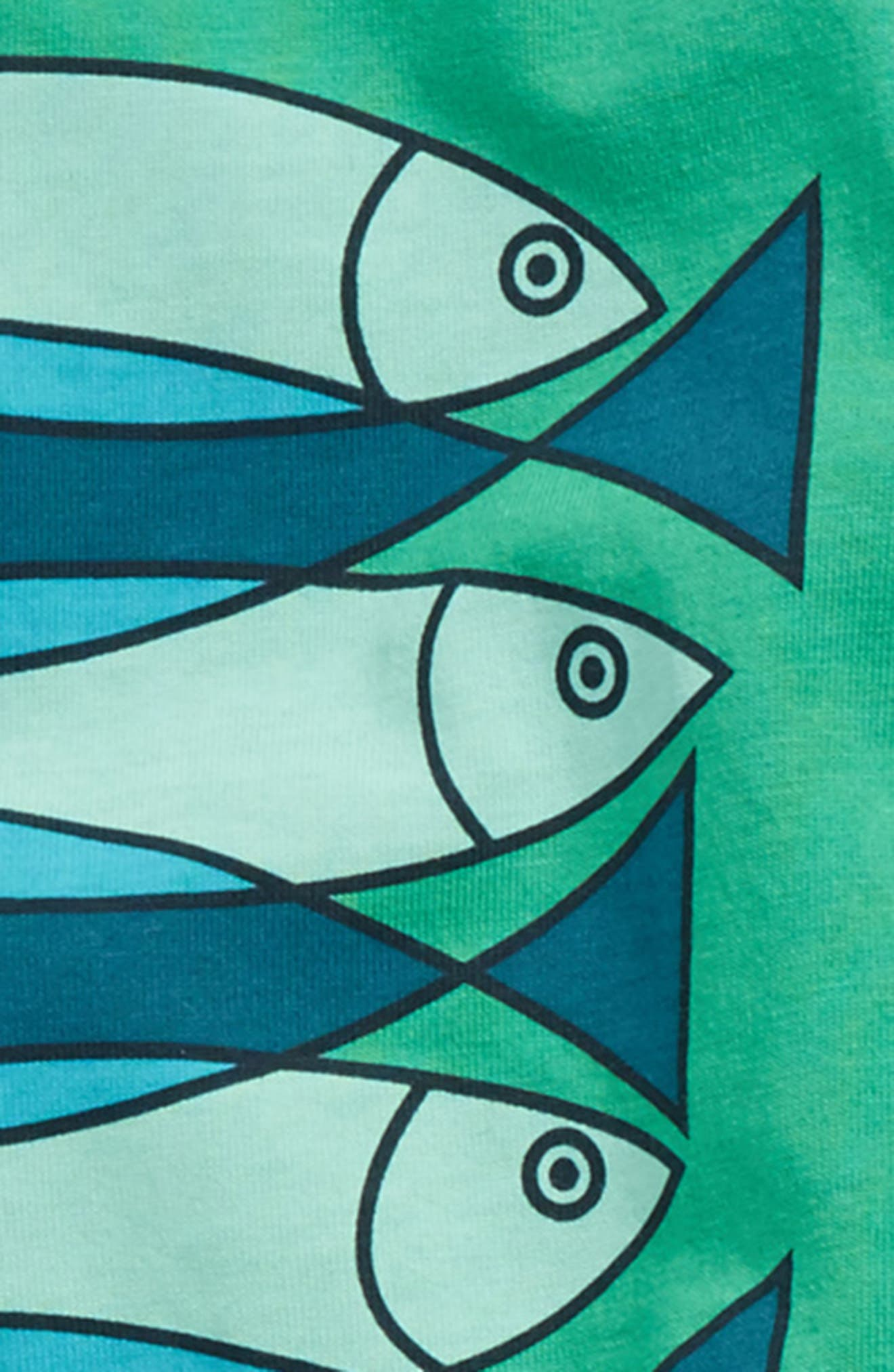 Fish School T-Shirt & Shorts Set,                             Alternate thumbnail 2, color,                             315