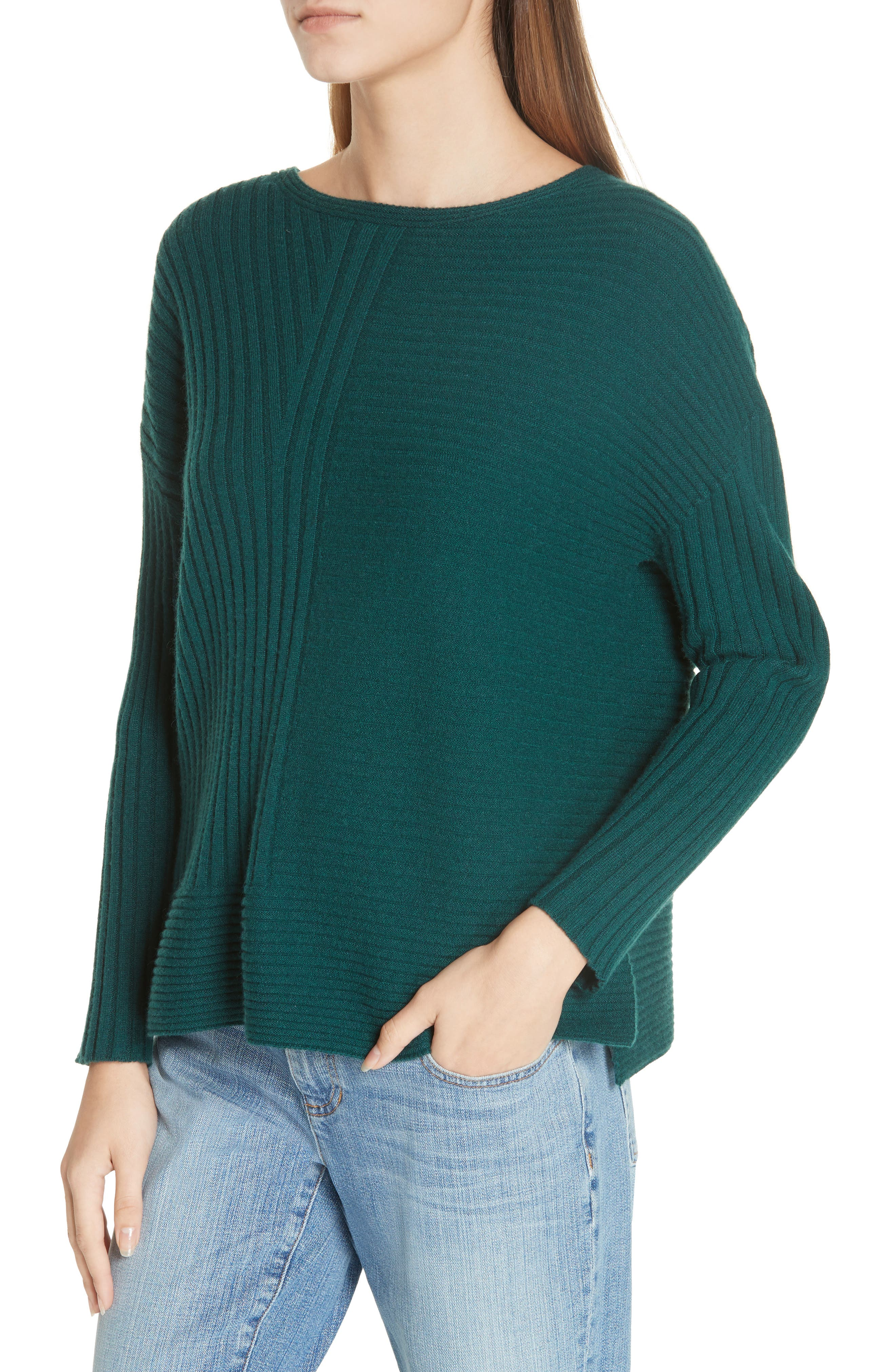 Ribbed Cashmere Sweater,                             Alternate thumbnail 4, color,                             303