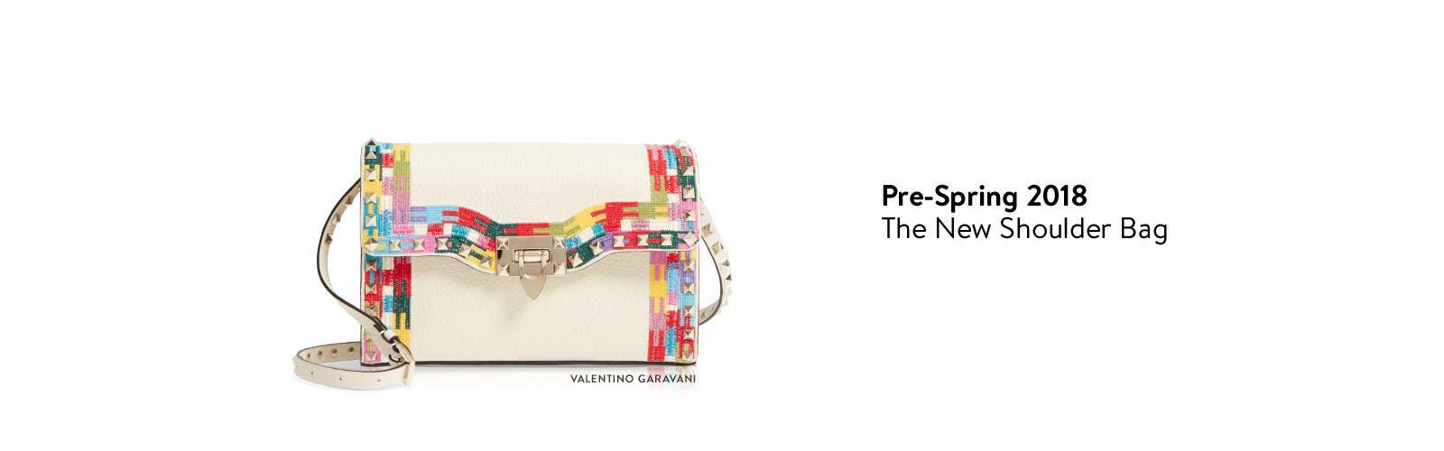 Designer pre-spring 2018 collections: Valentino Garavani handbag.