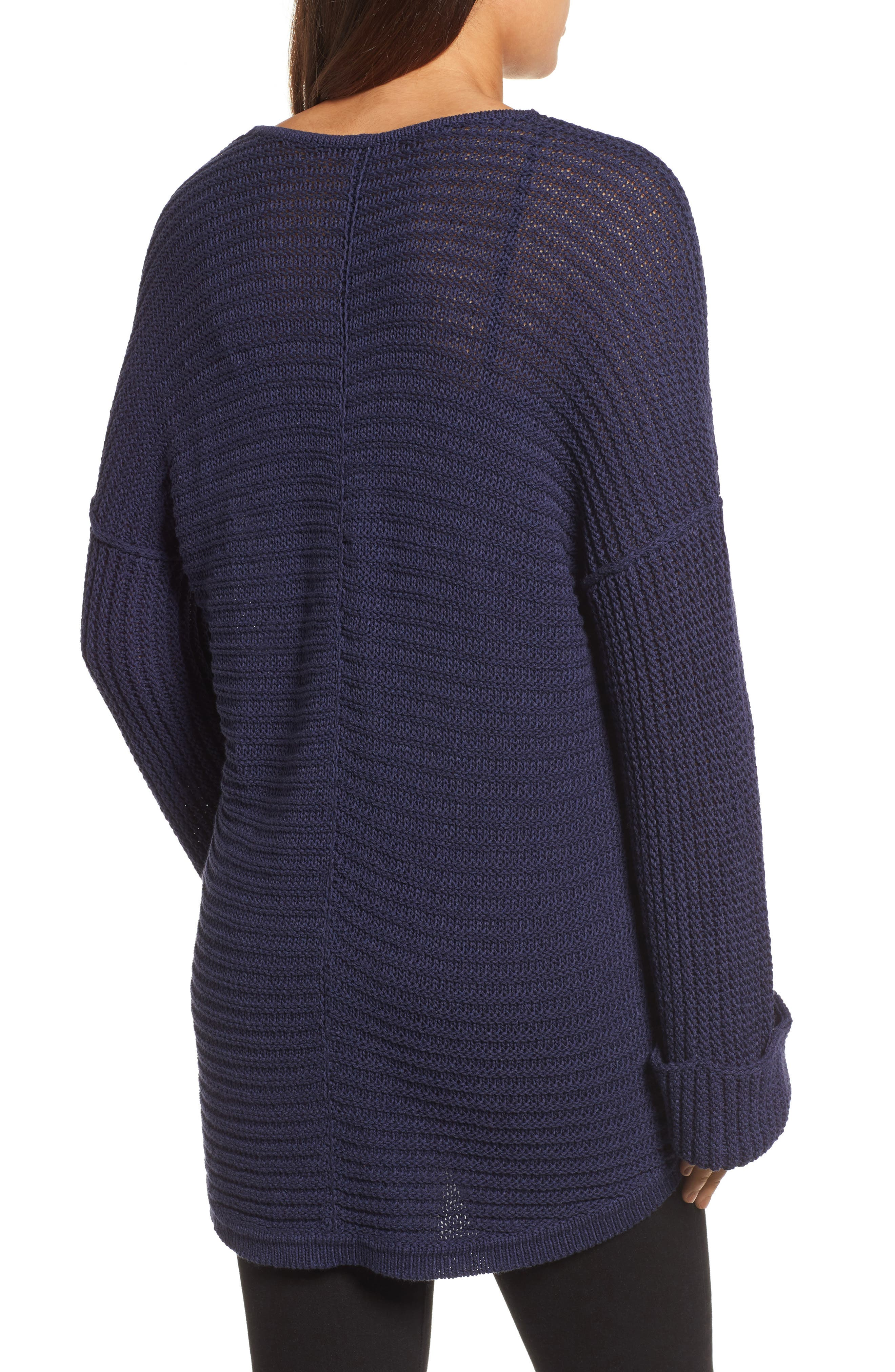 Cuffed Sleeve Sweater,                             Alternate thumbnail 5, color,