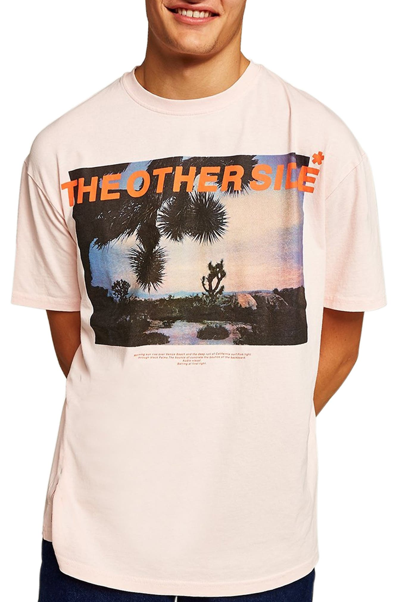 Oversize Other Side Graphic T-Shirt,                             Main thumbnail 1, color,                             650