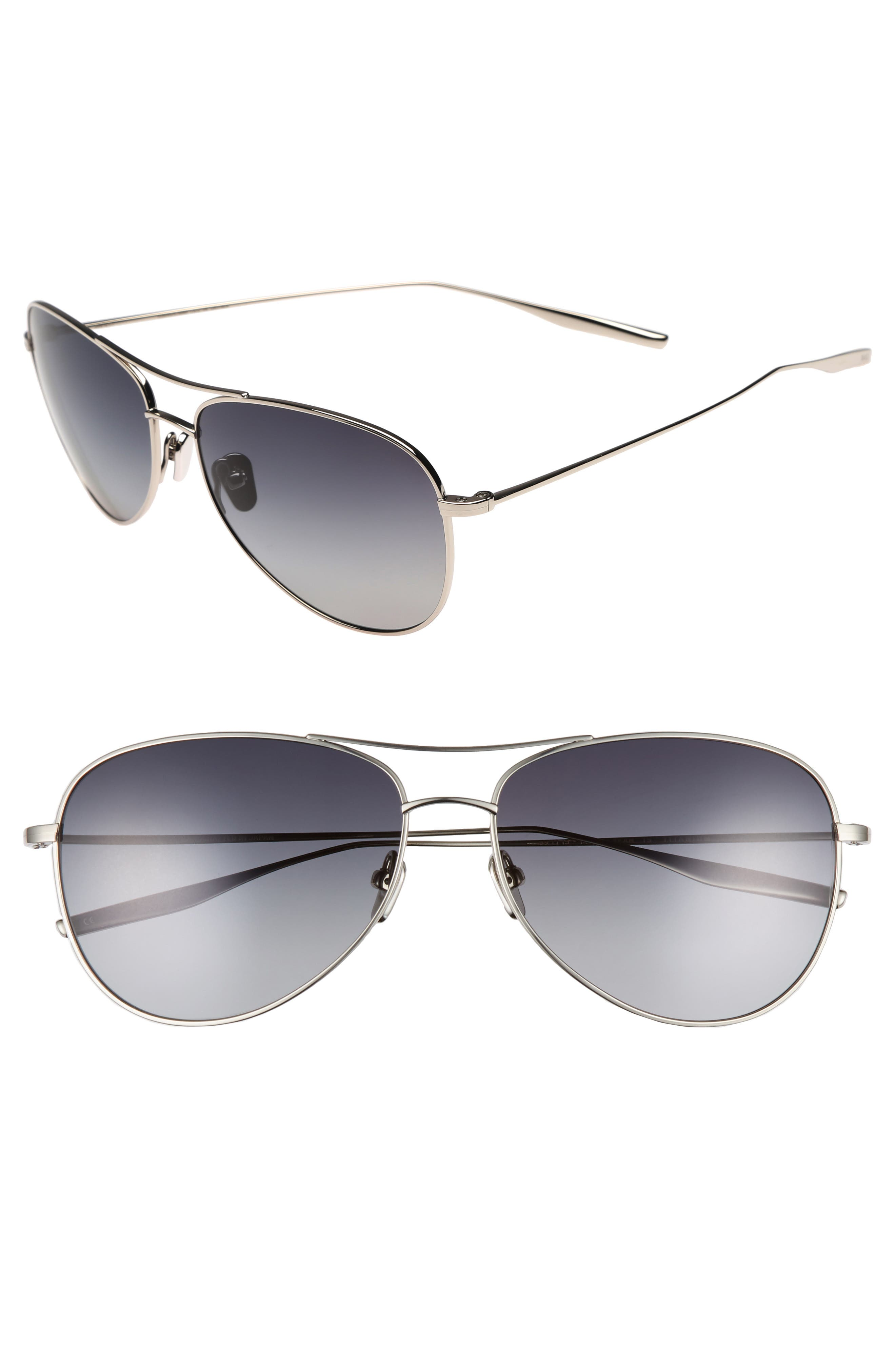 McKean 59mm Aviator Sunglasses,                         Main,                         color, TRADITIONAL SILVER