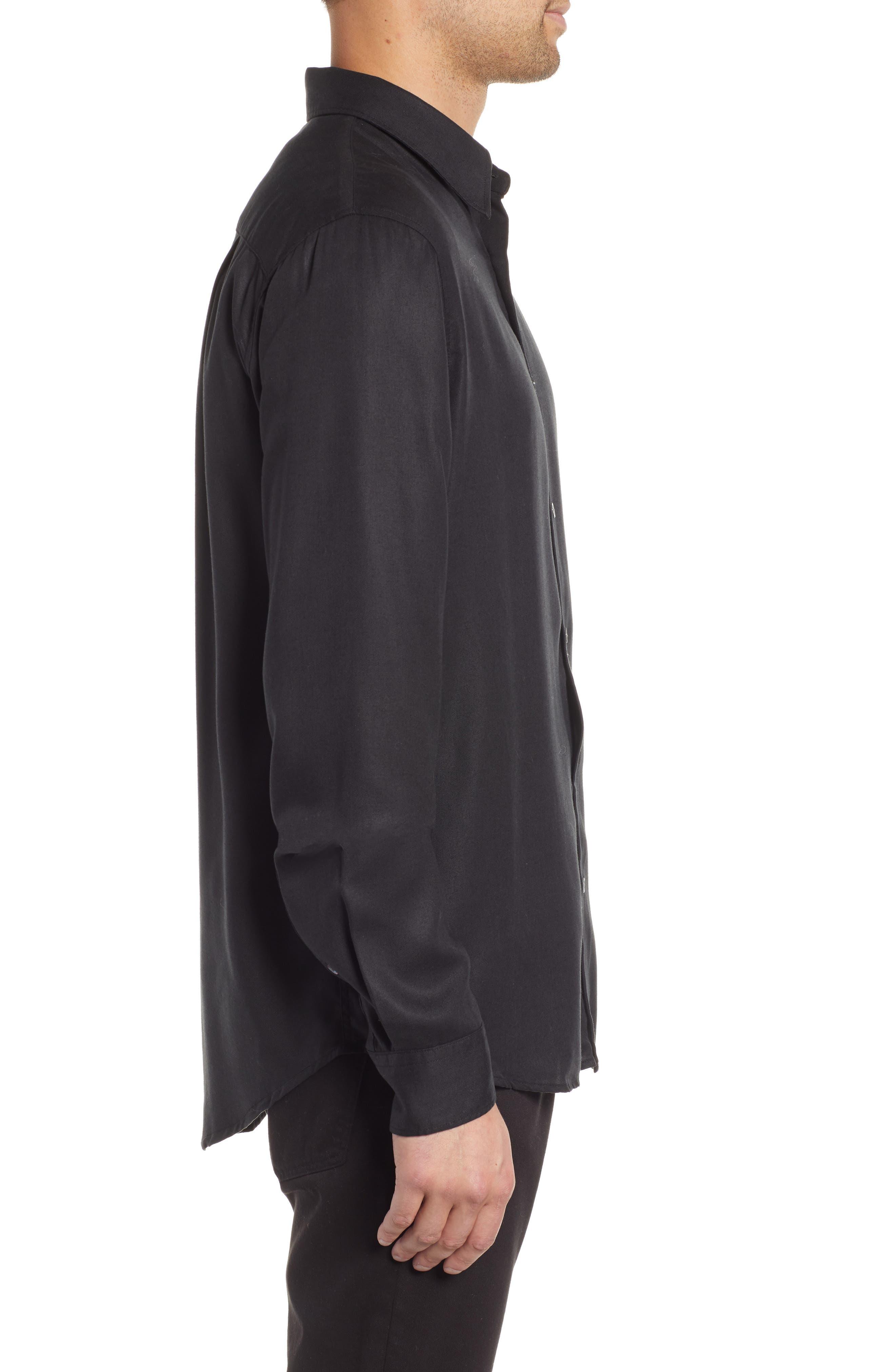 Air Clean Regular Fit Sport Shirt,                             Alternate thumbnail 4, color,                             BLACK