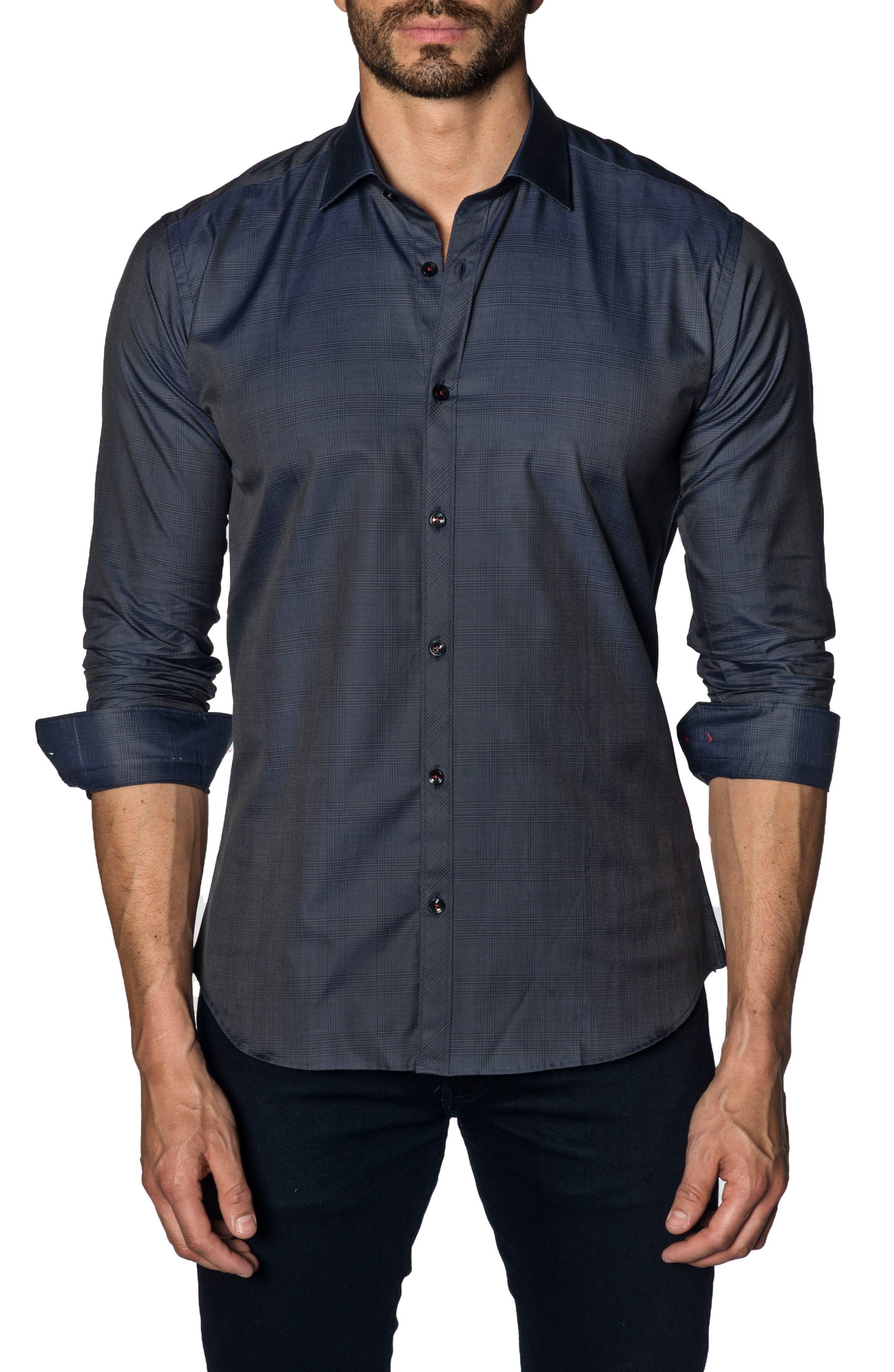 Trim Fit Sport Shirt,                         Main,                         color, 415