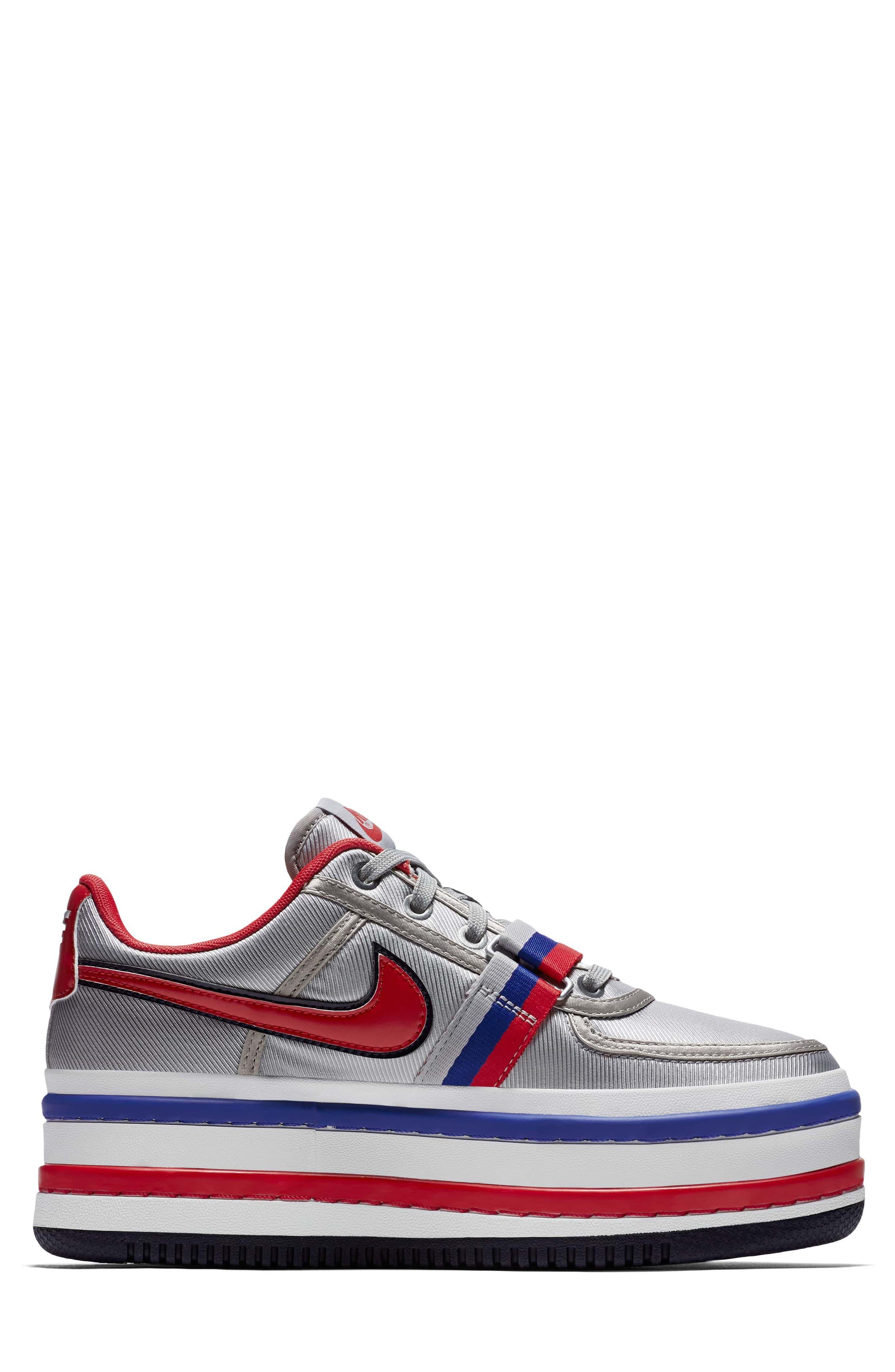 Vandal 2K Sneaker,                             Alternate thumbnail 3, color,                             SILVER/ UNIVERSITY RED