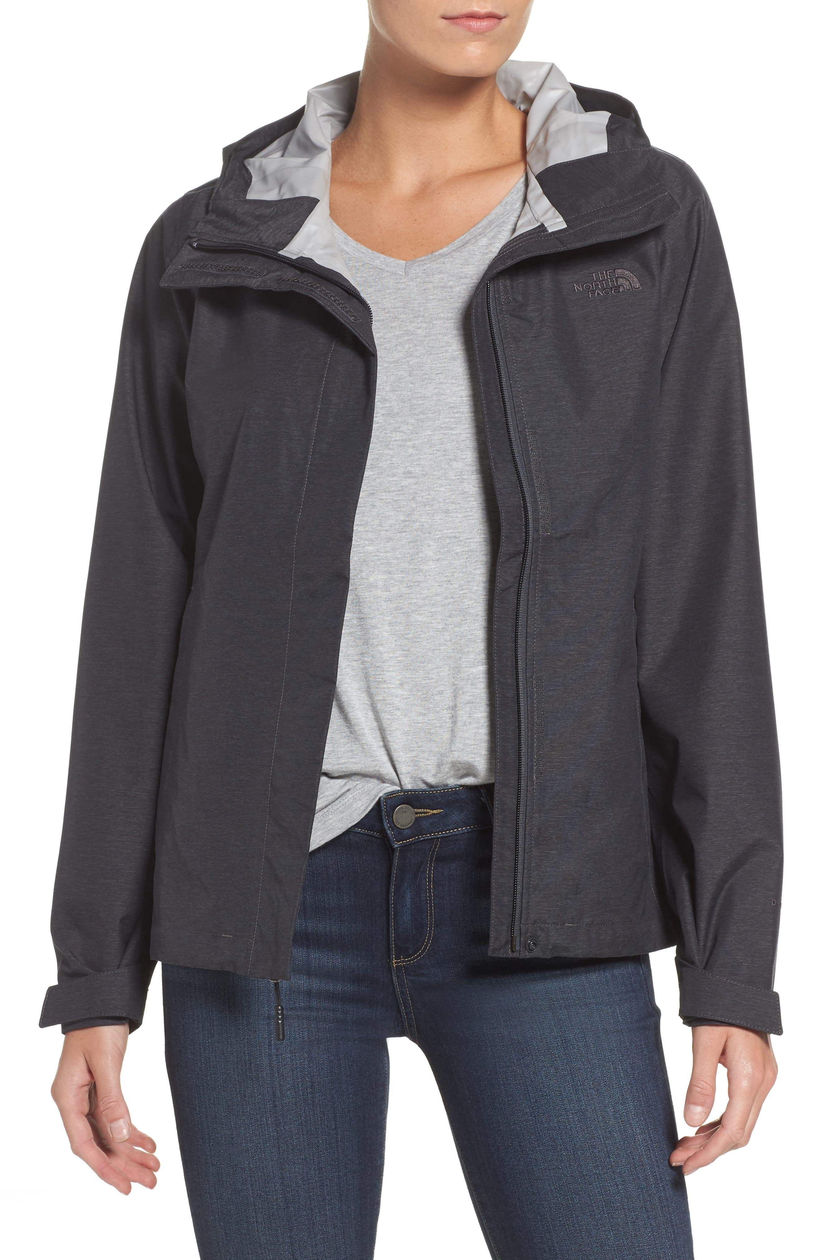 Venture 2 Waterproof Jacket,                             Main thumbnail 1, color,                             TNF DARK GREY HEATHER