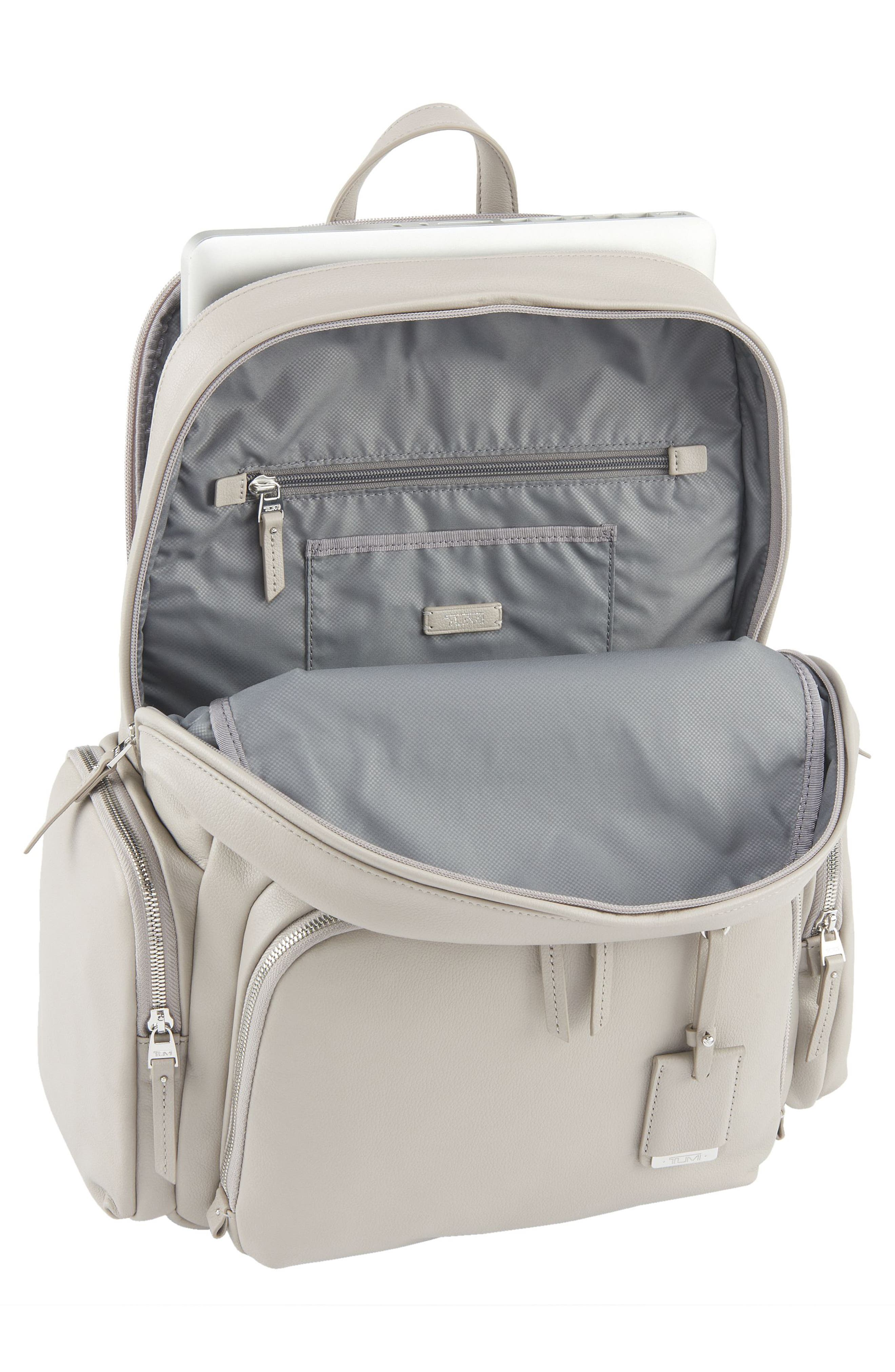 Calais Leather Computer Backpack,                             Alternate thumbnail 8, color,
