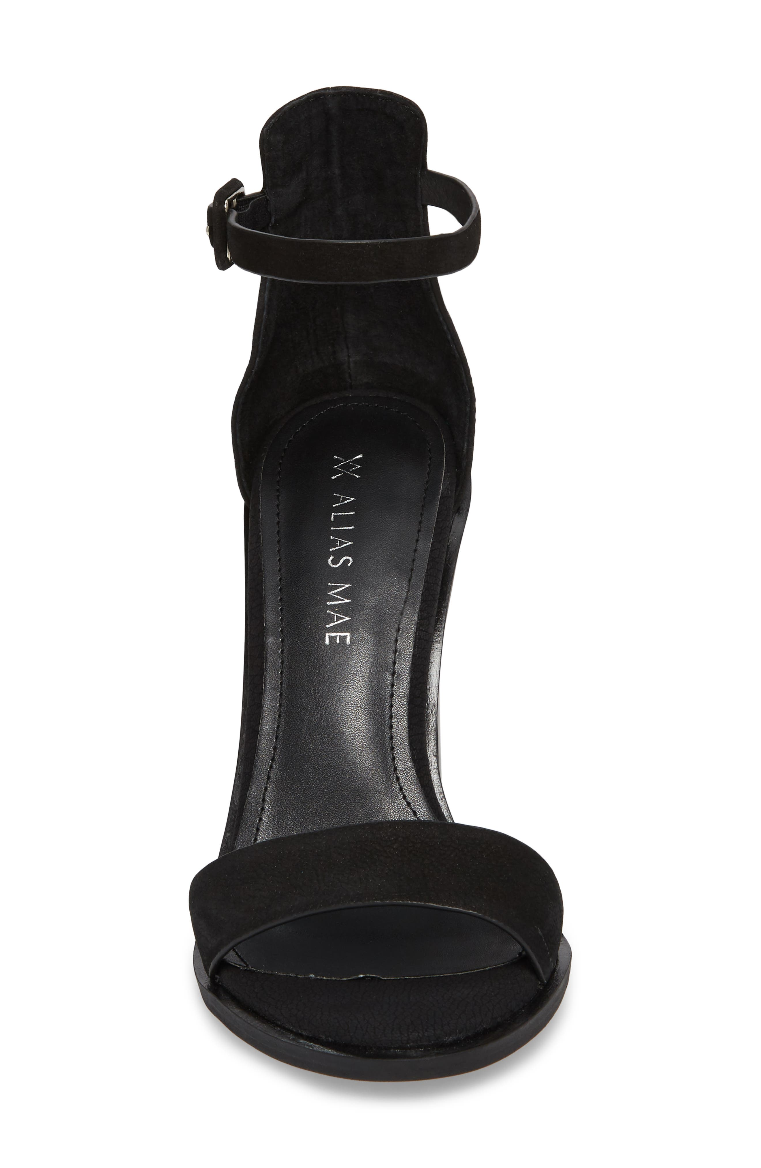 Addax Sandal,                             Alternate thumbnail 4, color,                             BLACK NUBUCK LEATHER