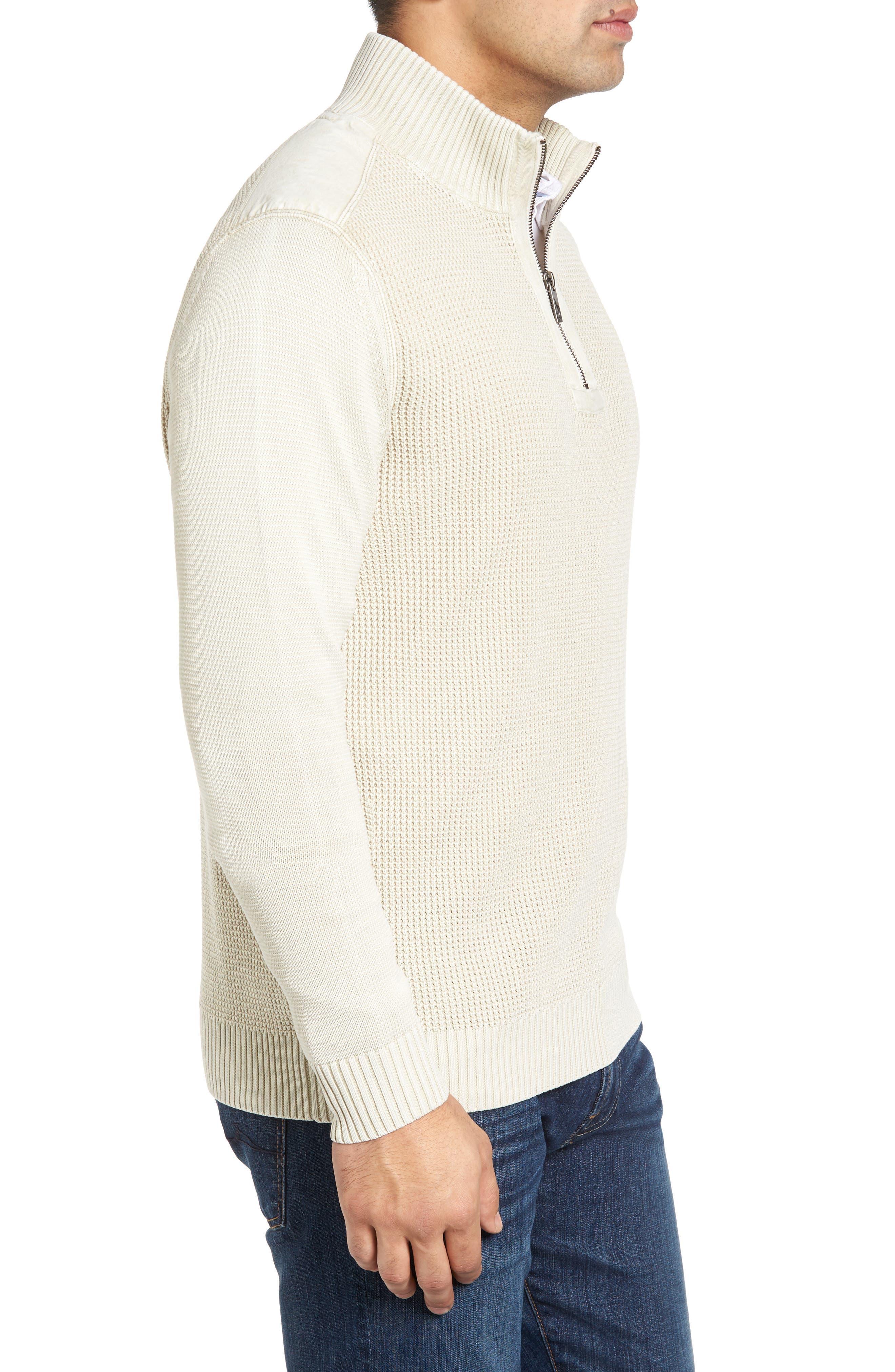 'Coastal Shores' Quarter Zip Sweater,                             Alternate thumbnail 25, color,