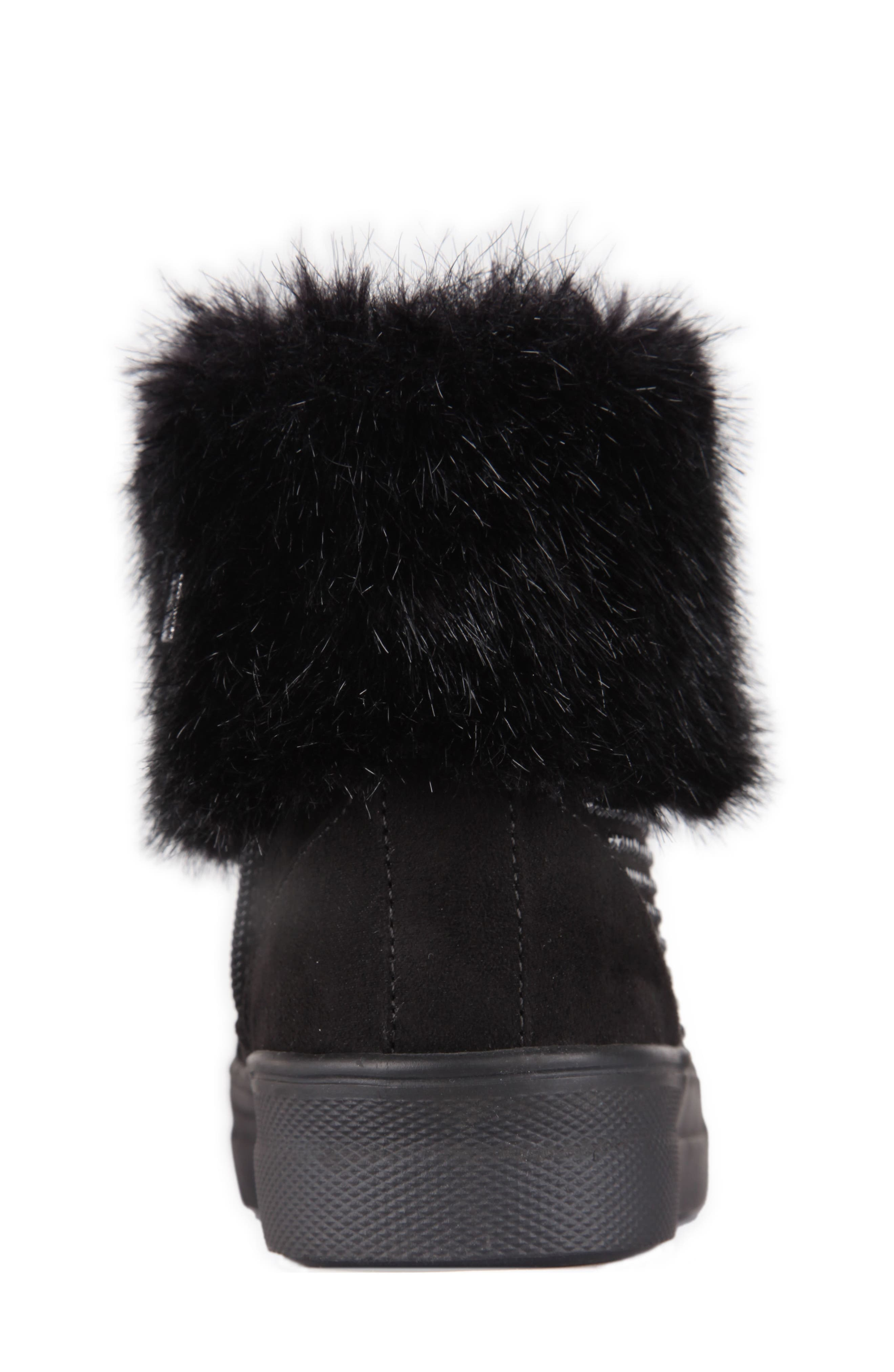 Randi Studded Faux Fur High Top,                             Alternate thumbnail 7, color,                             007