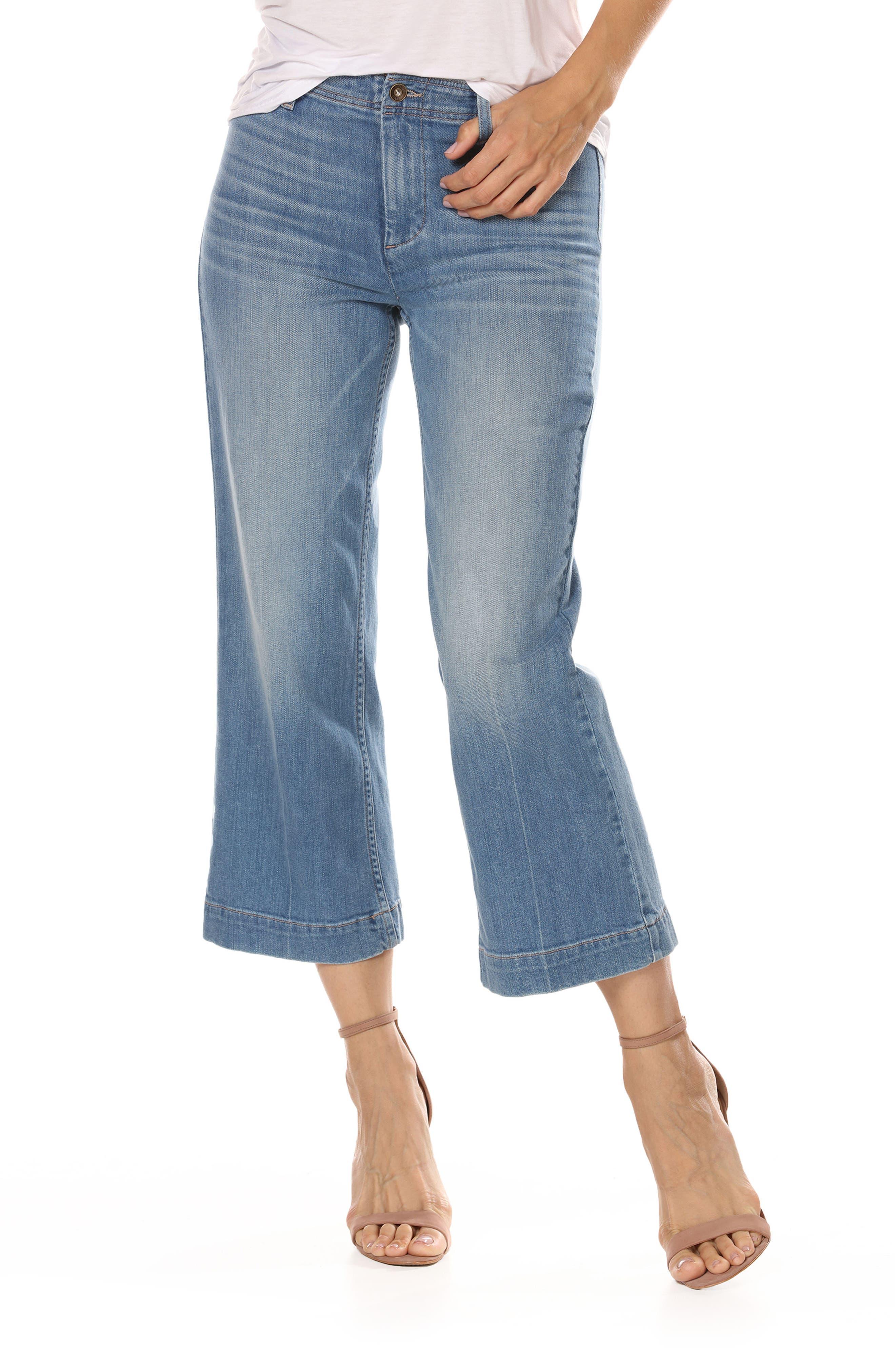 Nellie High Waist Culotte Jeans,                             Main thumbnail 1, color,                             400
