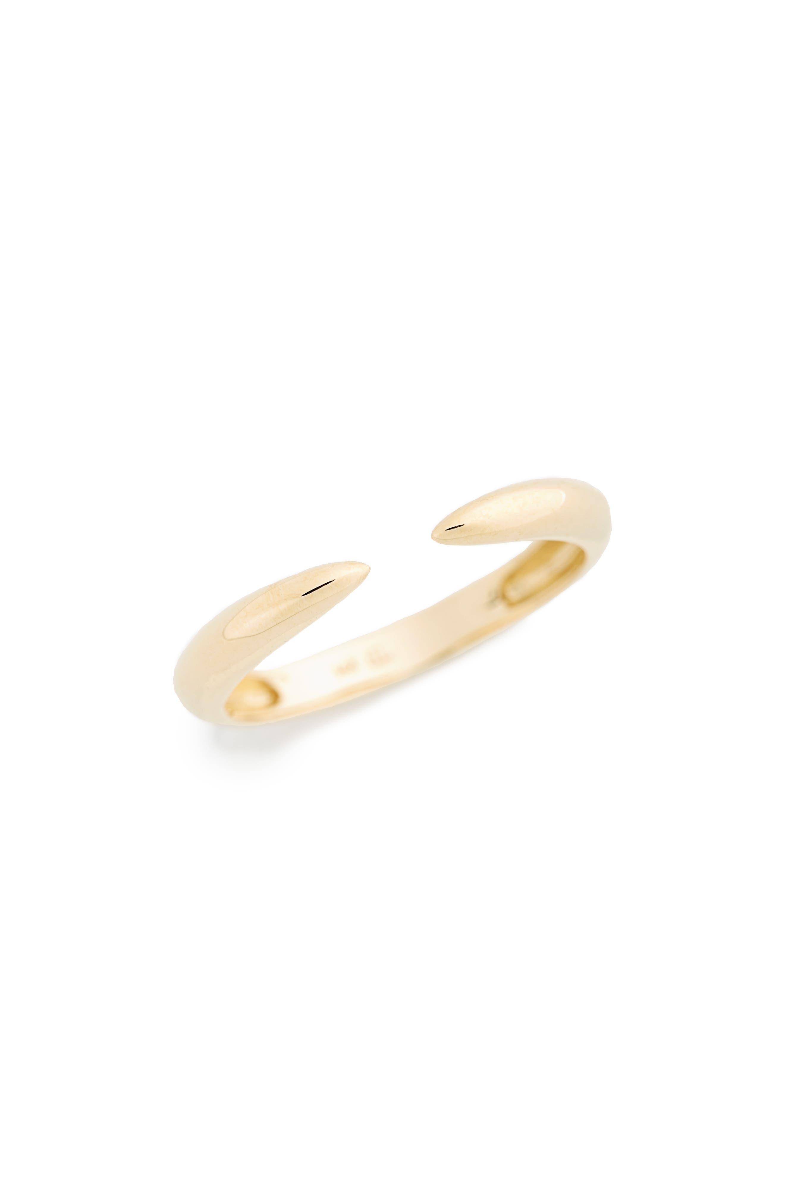Ofira Small 14K Open Cuff Ring, Main, color, YELLOW GOLD