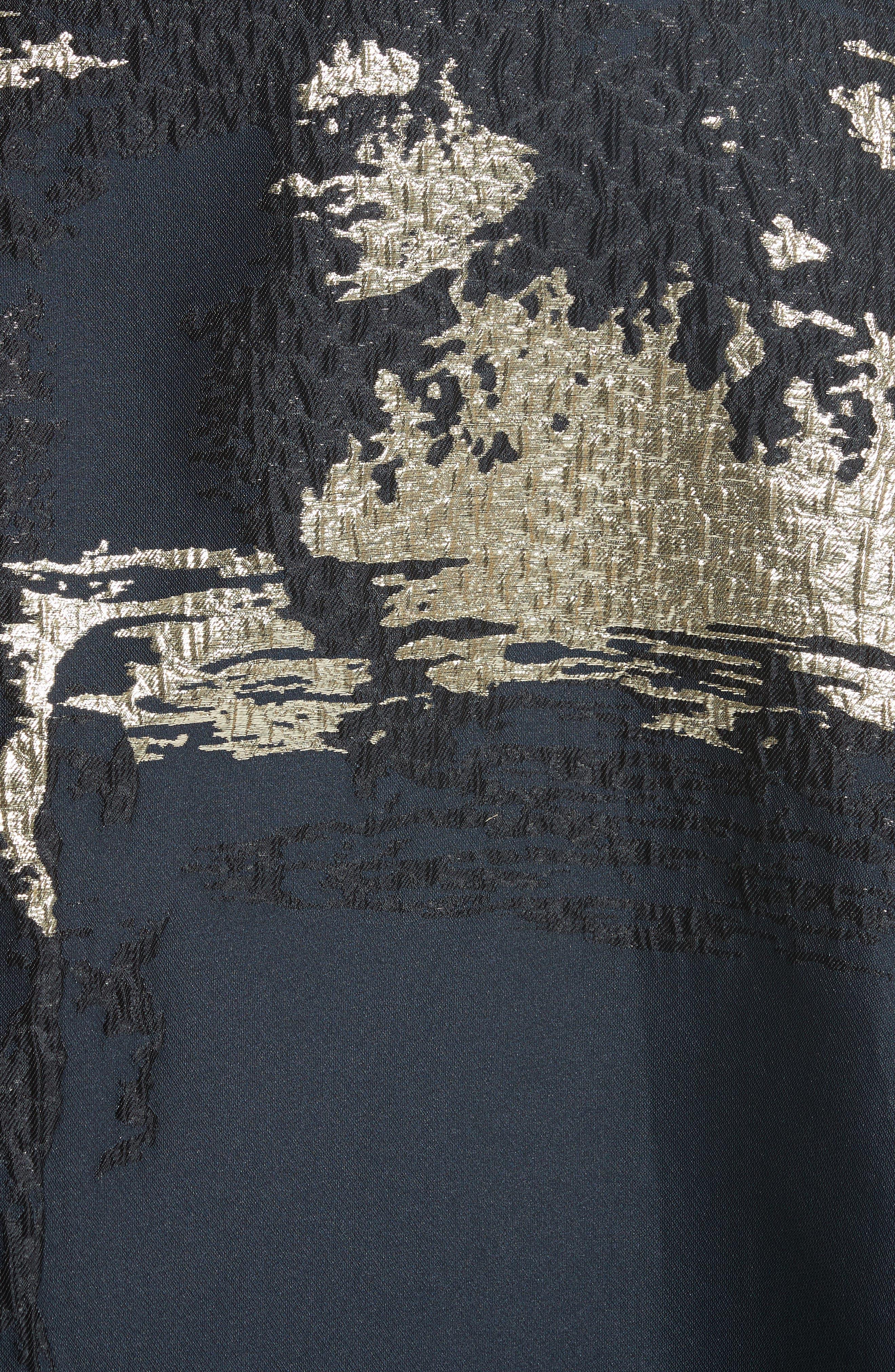Jacquard Draped Asymmetrical Dress,                             Alternate thumbnail 5, color,                             410