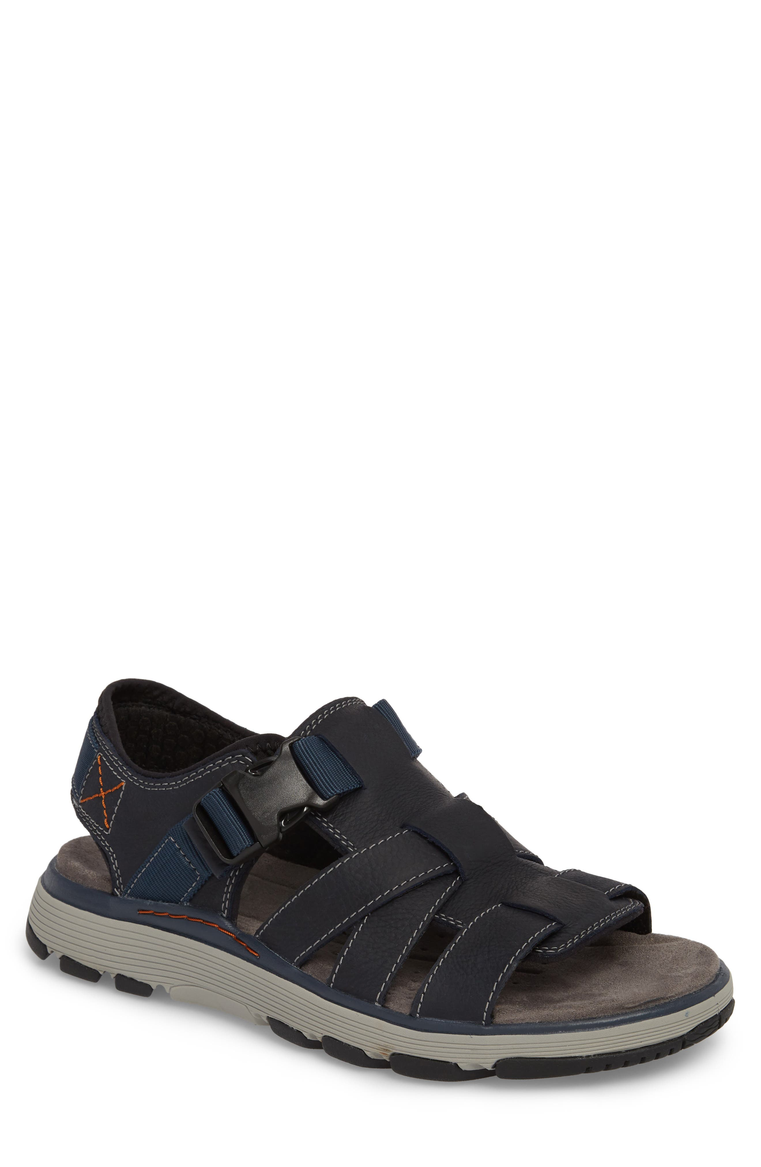 Clarks<sup>®</sup> Untrek Cove Fisherman Sandal,                             Main thumbnail 2, color,