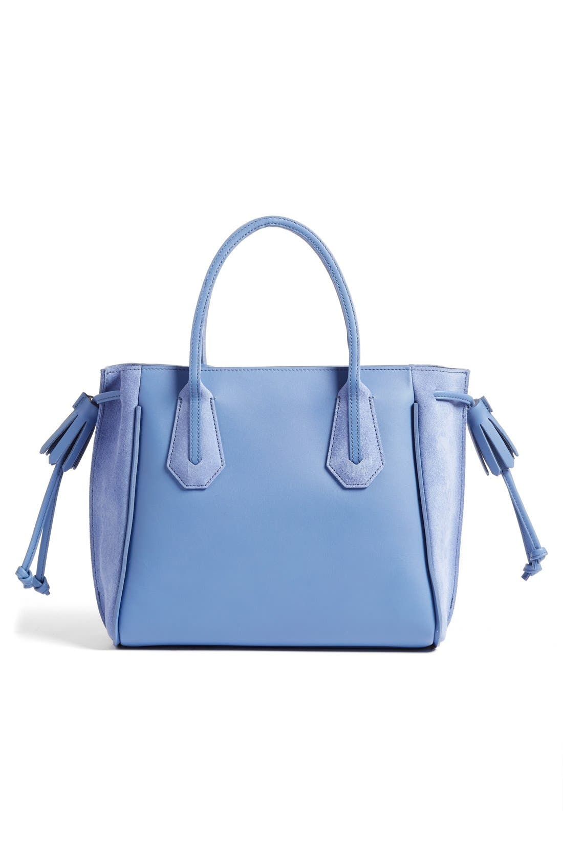 'Small Penelope Fantasie' Leather Tote,                             Alternate thumbnail 6, color,