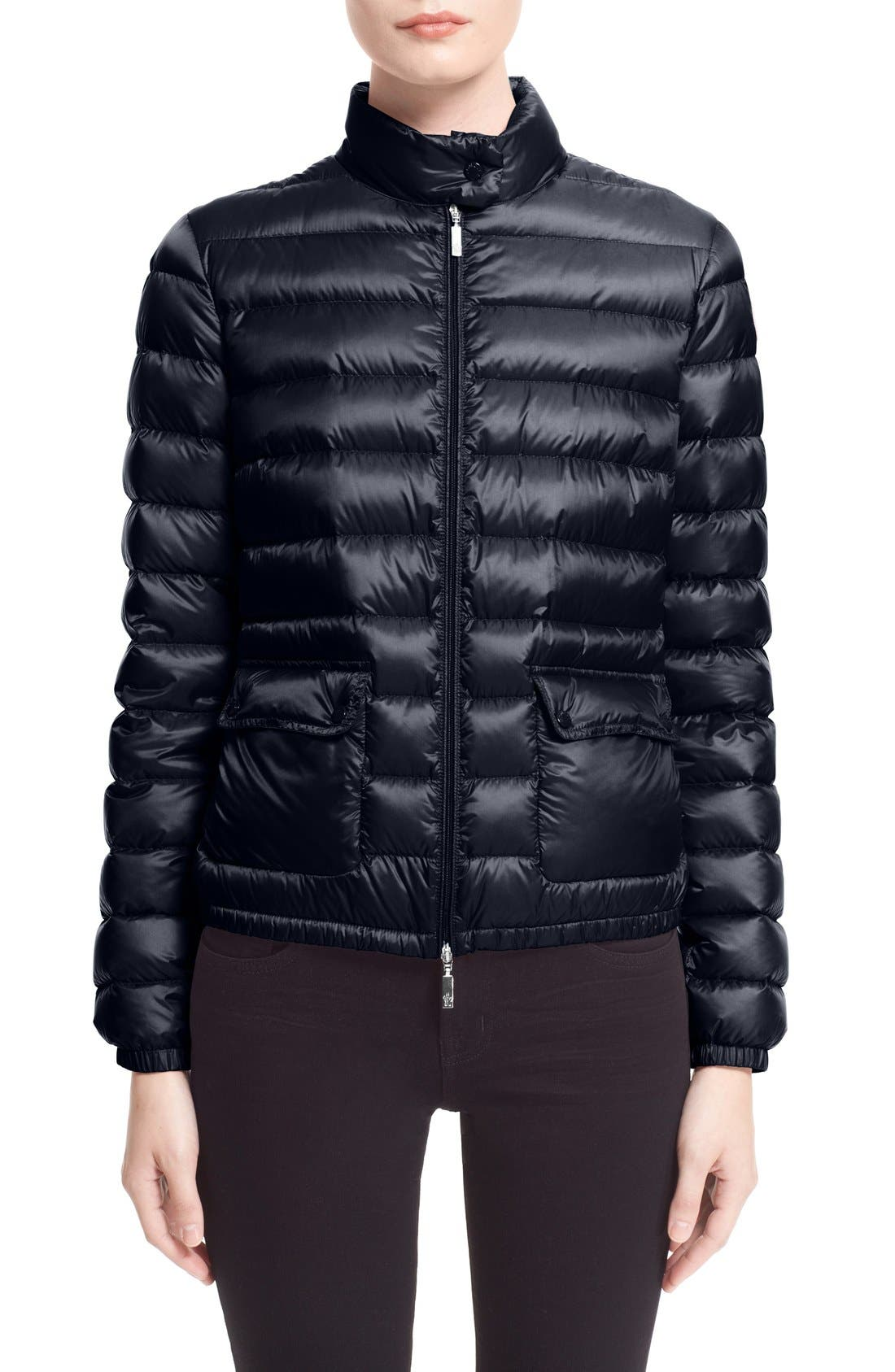 'Lans' Water Resistant Short Down Jacket,                         Main,                         color, NAVY