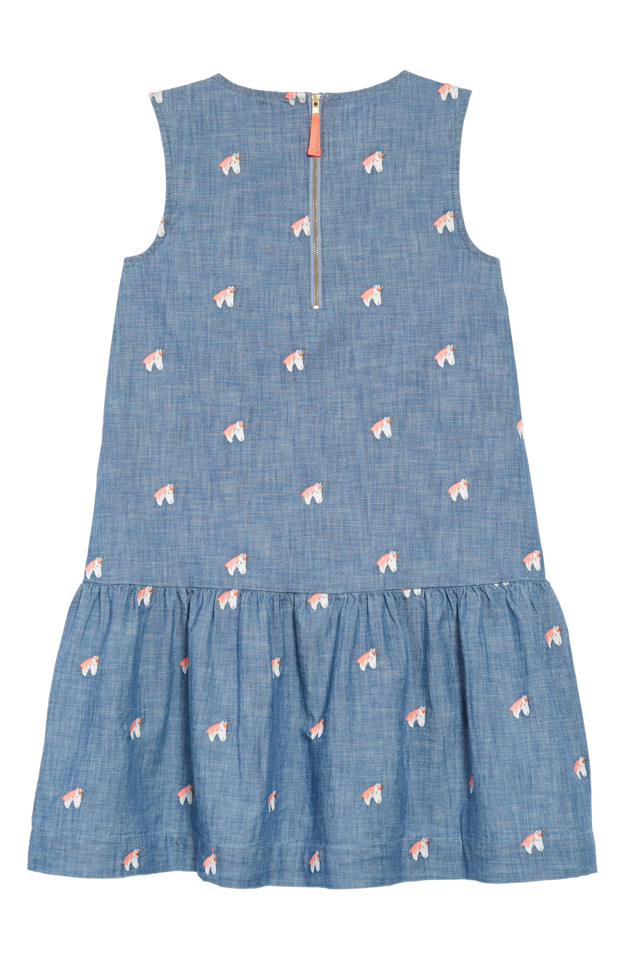 Unicorn Chambray Dress,                             Alternate thumbnail 2, color,                             SUN BLUE