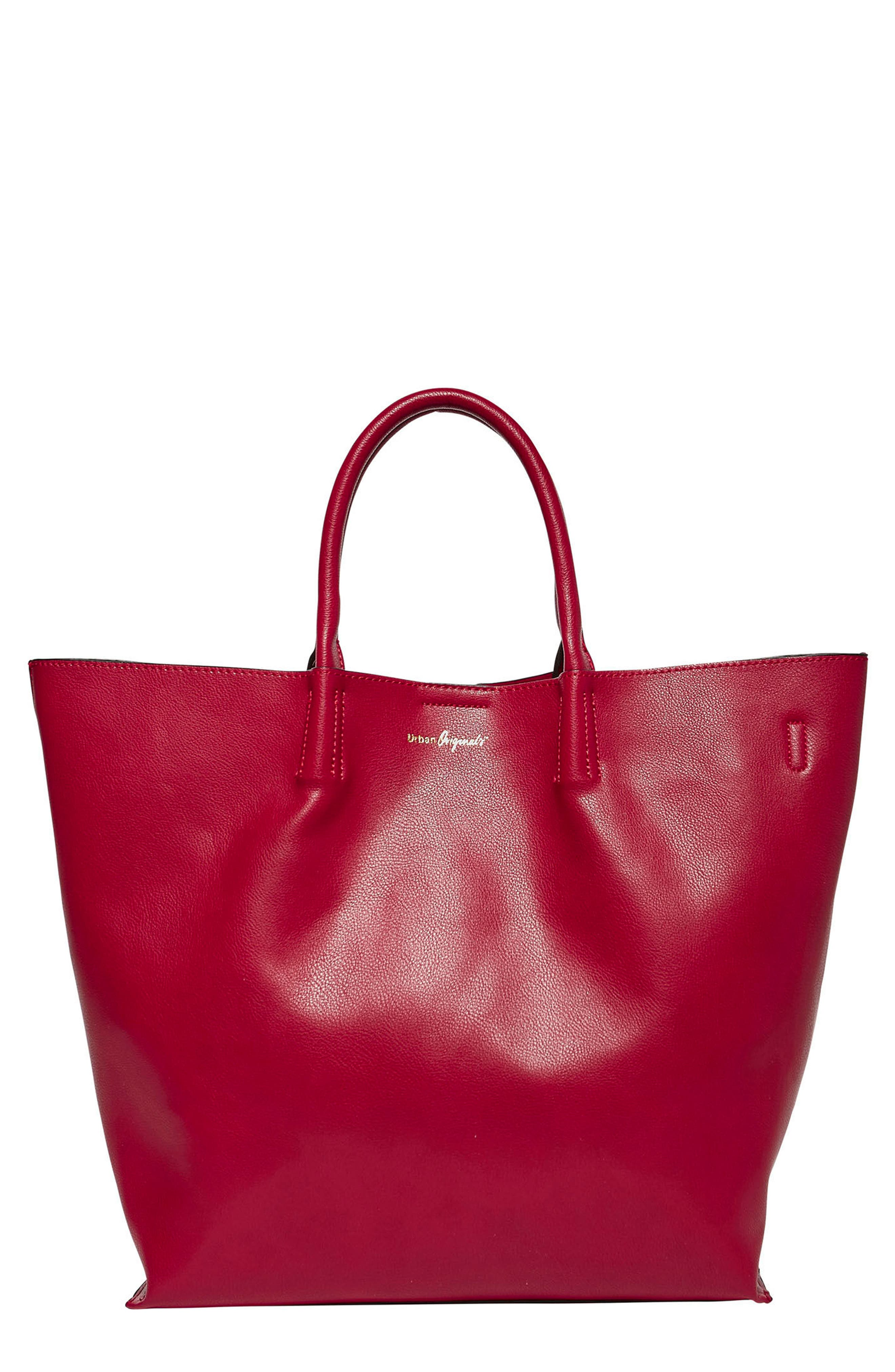 Butterfly Vegan Leather Tote,                             Main thumbnail 3, color,