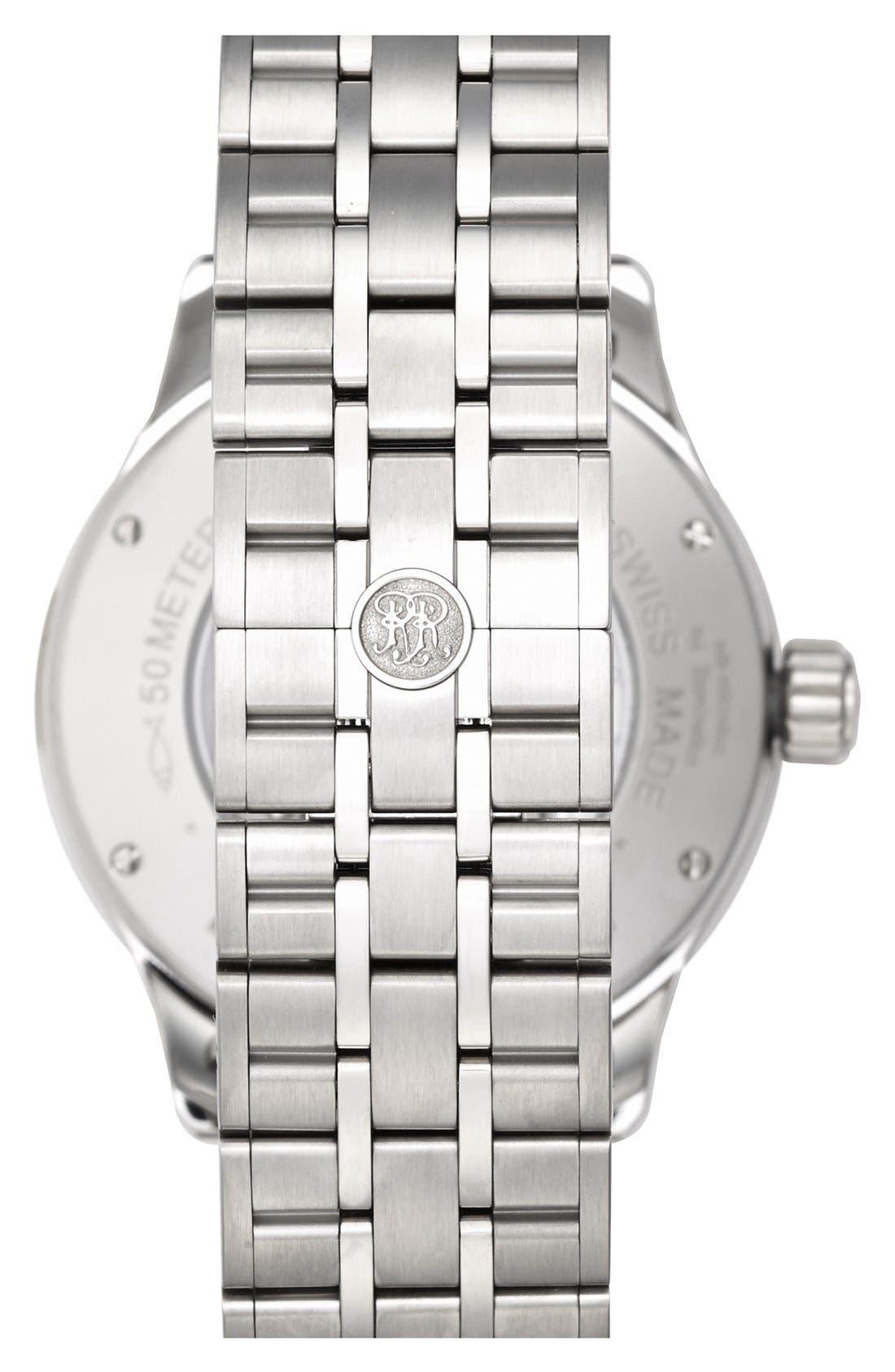 'Trainmaster 60 Seconds II' Bracelet Watch, 41mm,                             Alternate thumbnail 5, color,                             100
