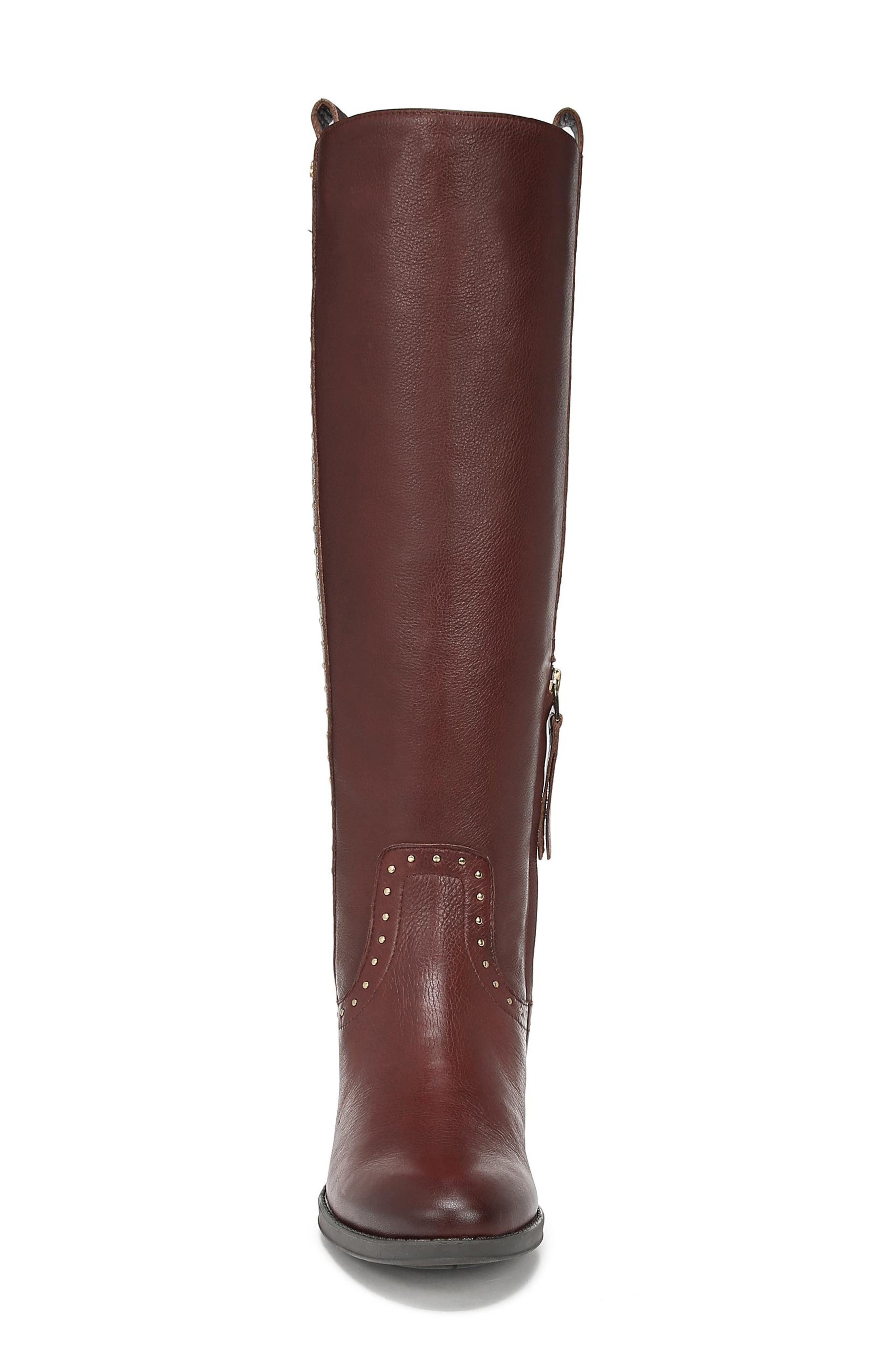 Prina Riding Boot,                             Alternate thumbnail 4, color,                             REDWOOD BROWN LEATHER