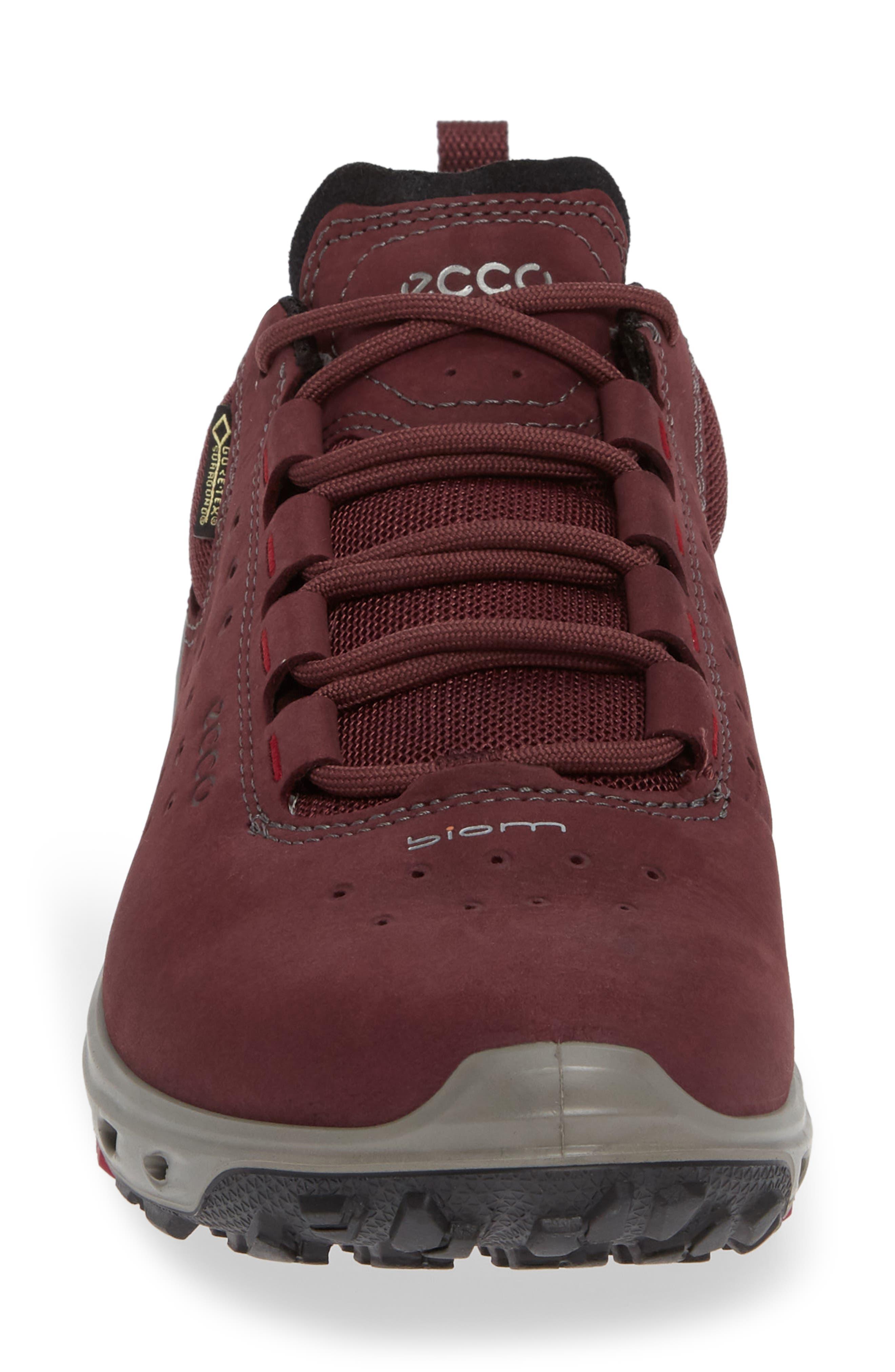 BIOM Venture GTX Sneaker,                             Alternate thumbnail 4, color,                             WINE NUBUCK LEATHER