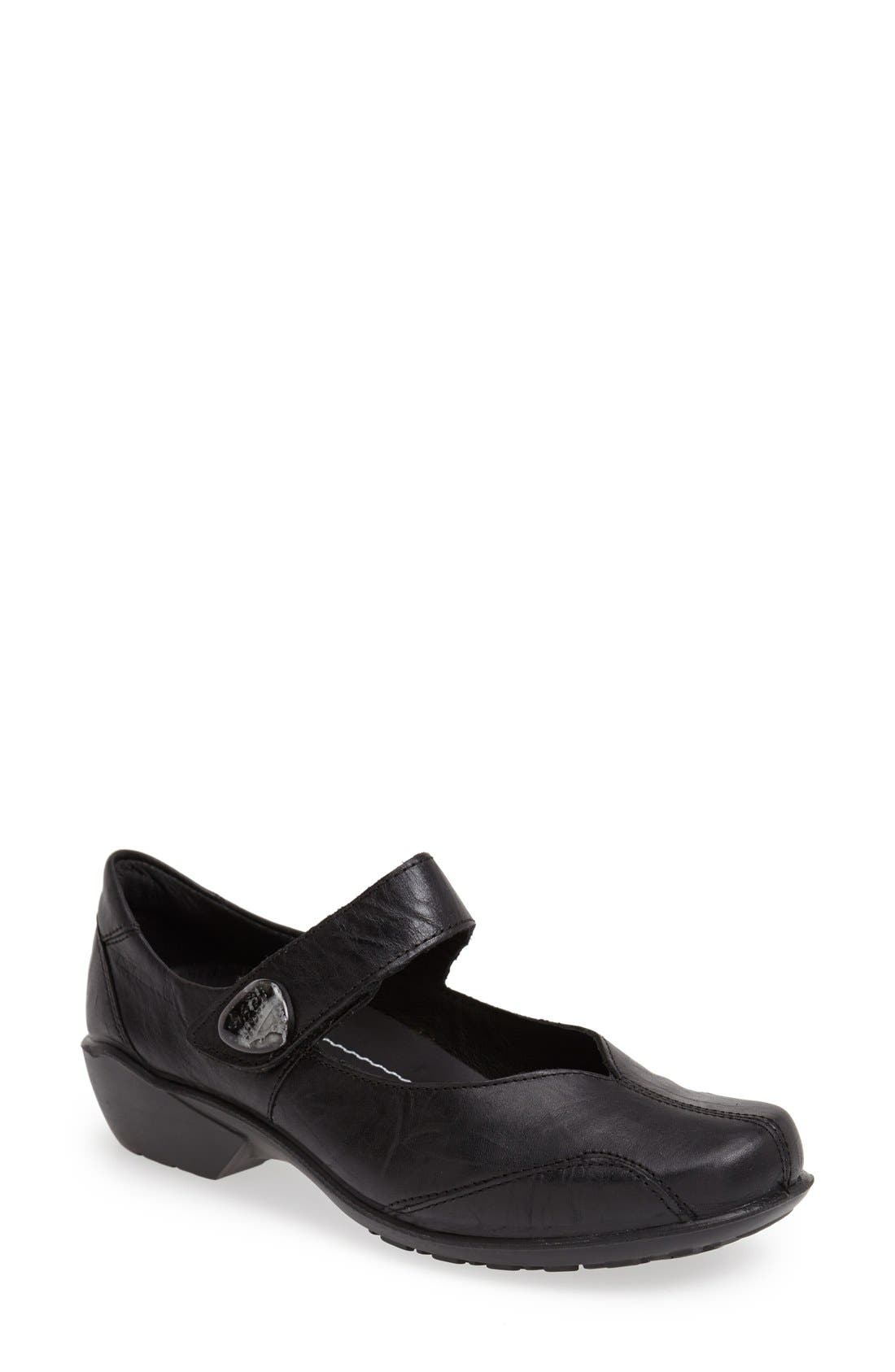 'City Light 87' Leather Mary Jane Flat,                         Main,                         color, 001