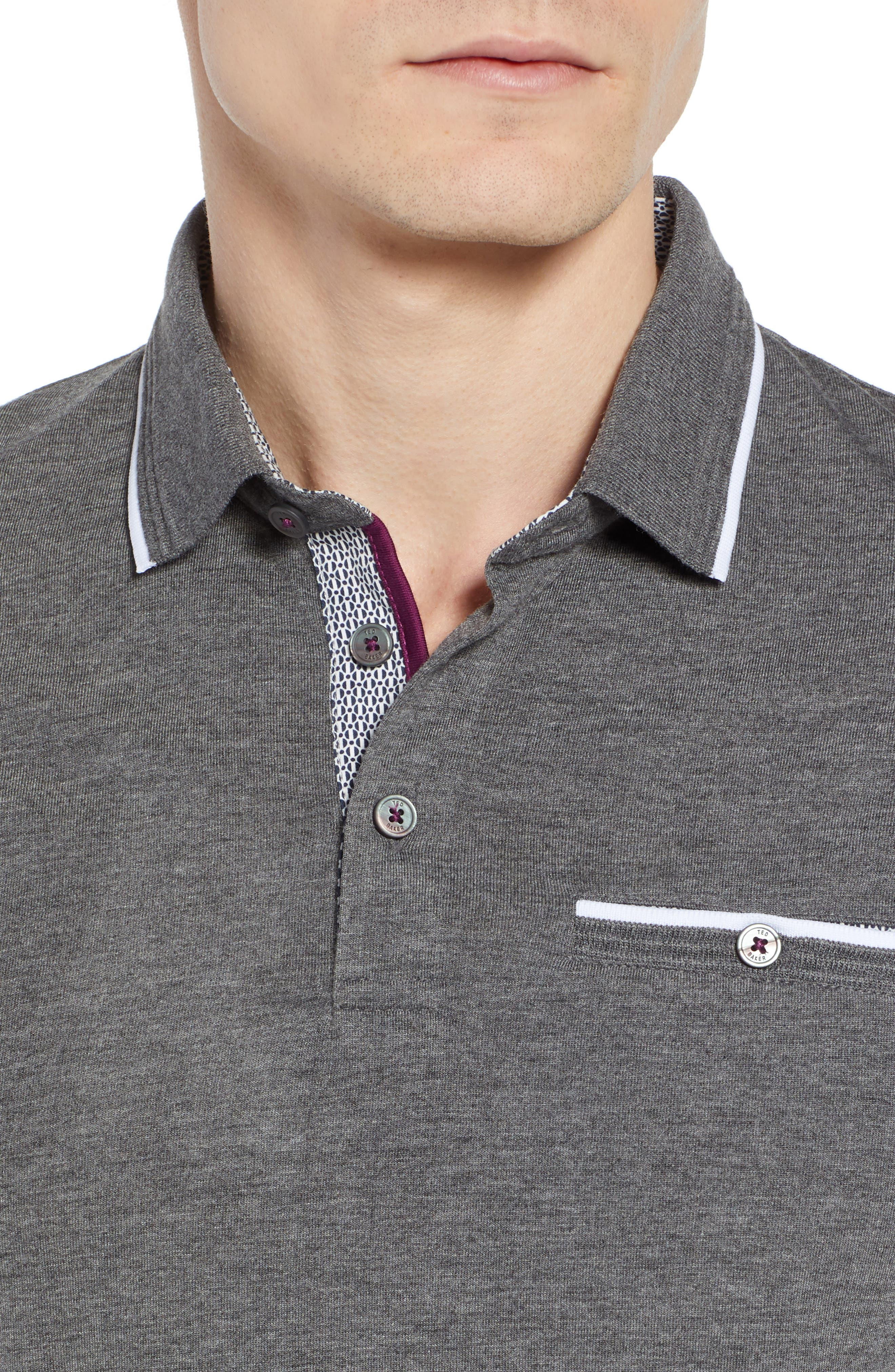 Derry Modern Slim Fit Polo,                             Alternate thumbnail 4, color,                             021