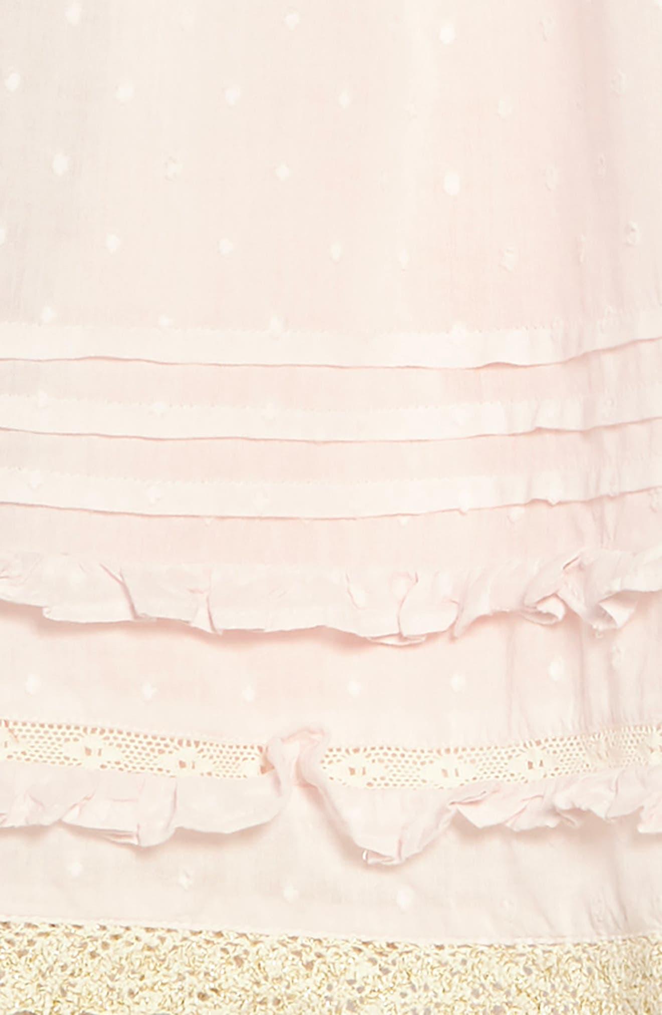 Lace Trim Fit & Flare Dress,                             Alternate thumbnail 3, color,                             684