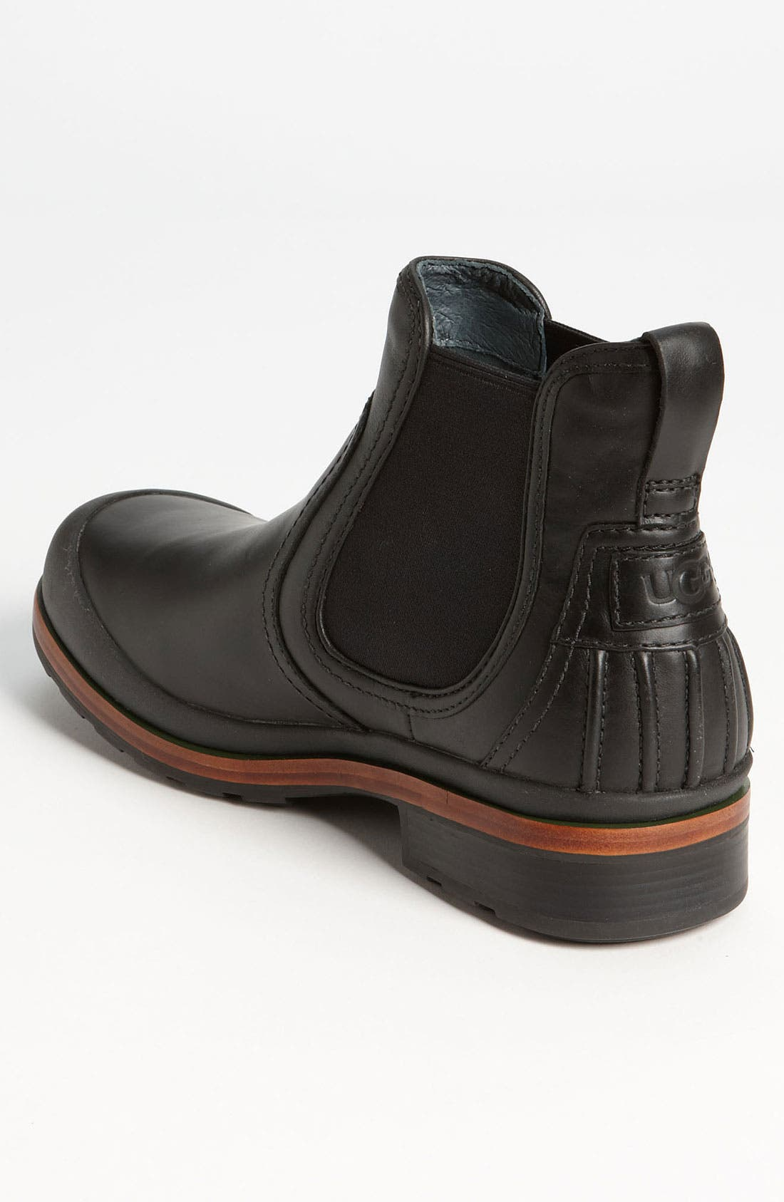 Australia 'Matteson' Chelsea Boot,                             Alternate thumbnail 4, color,                             001