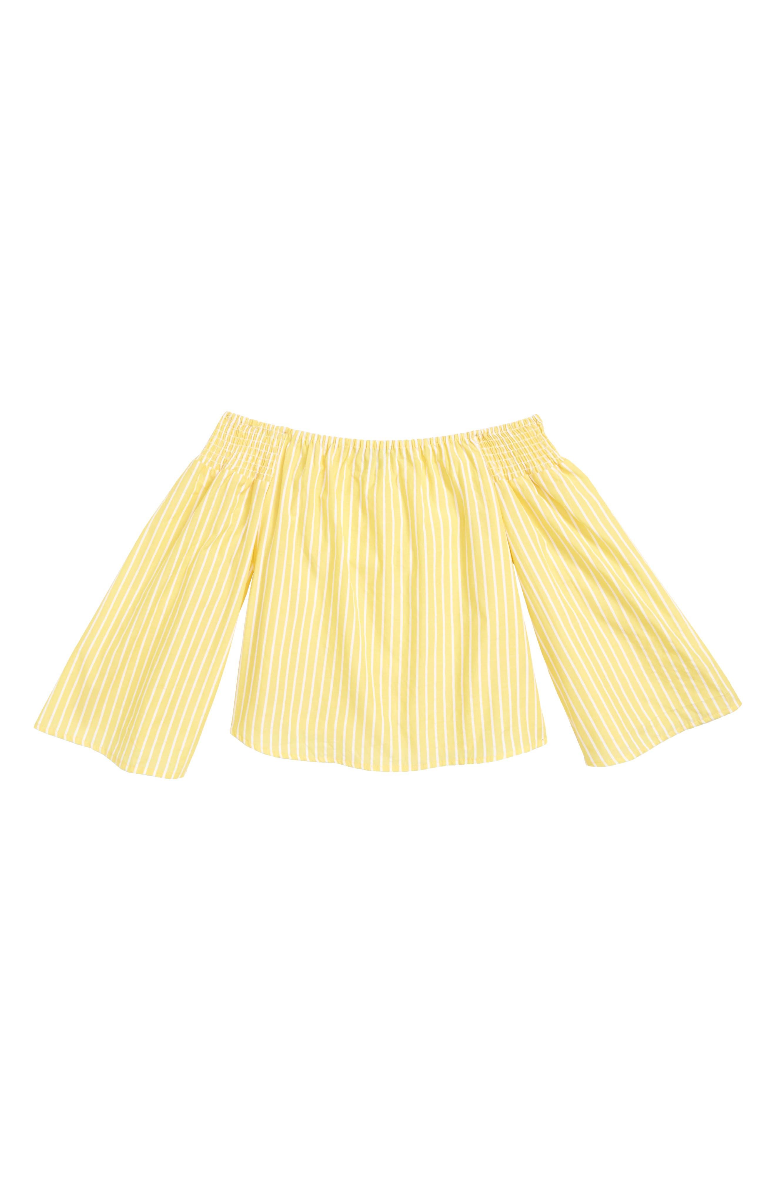 Stripe Off the Shoulder Top,                         Main,                         color,