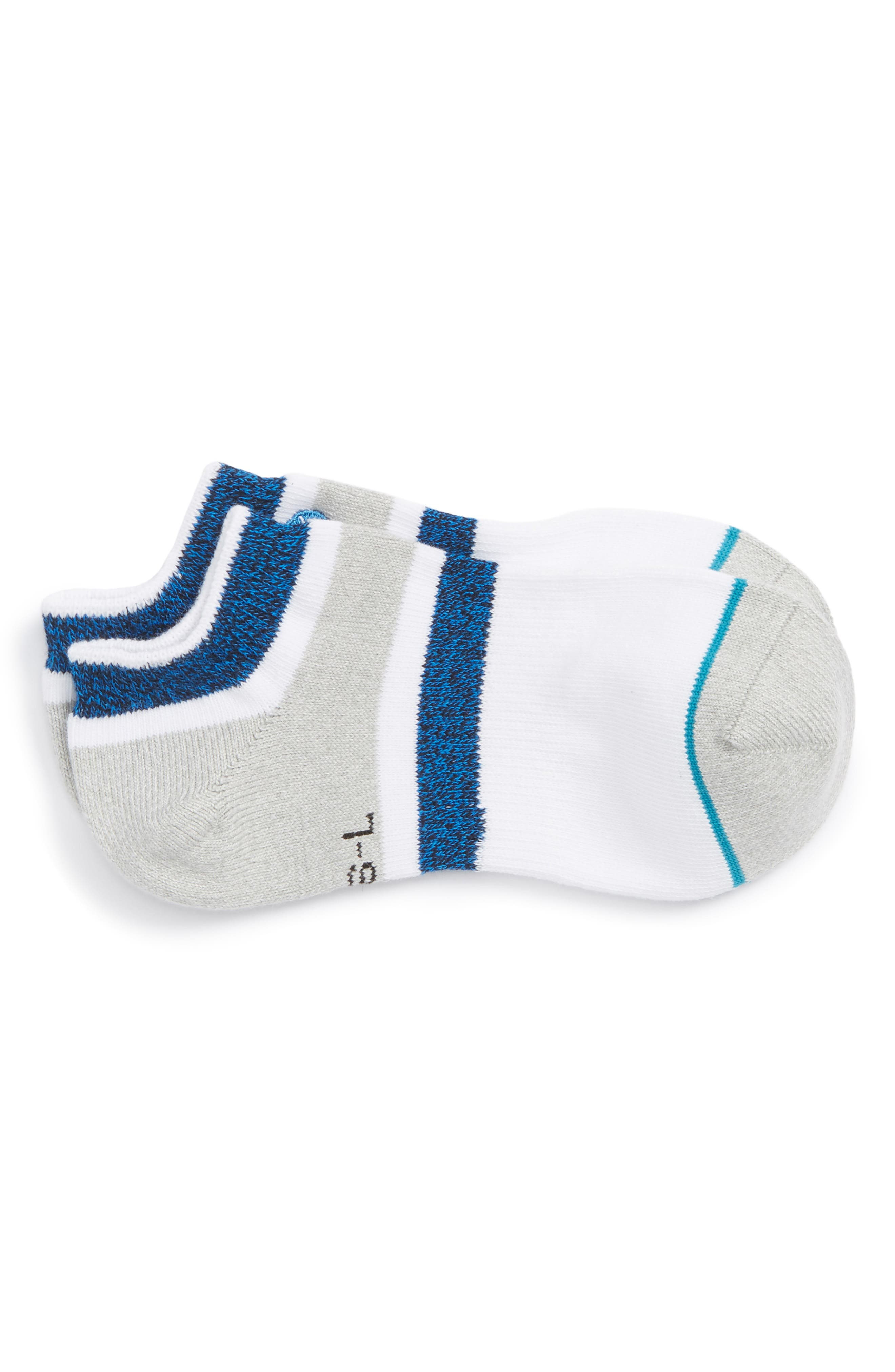 Boyd Striped No-Show Socks,                         Main,                         color, 420
