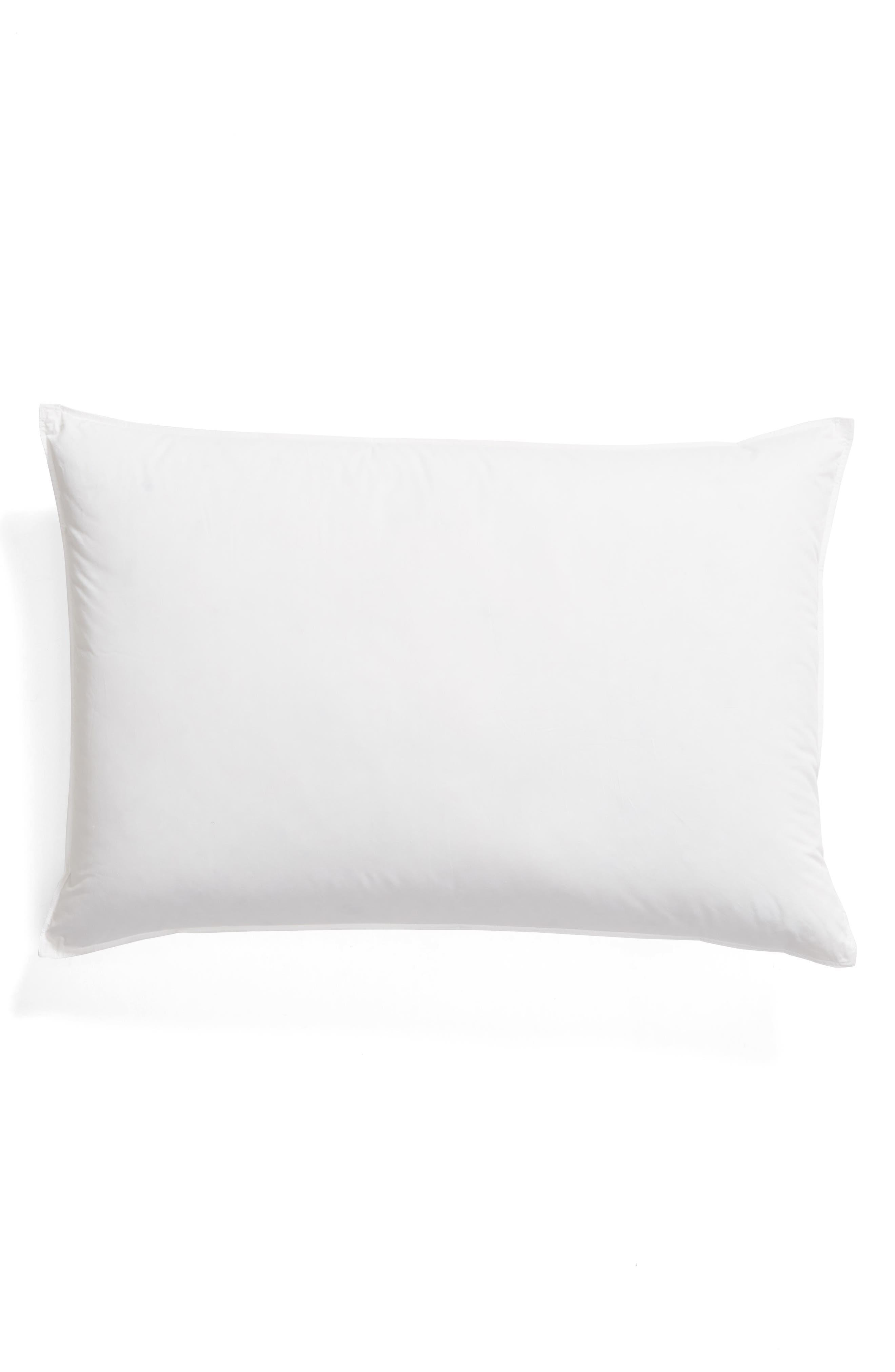 MATOUK Valletto Medium 650 Fill Power Down 400 Thread Count Pillow, Main, color, WHITE