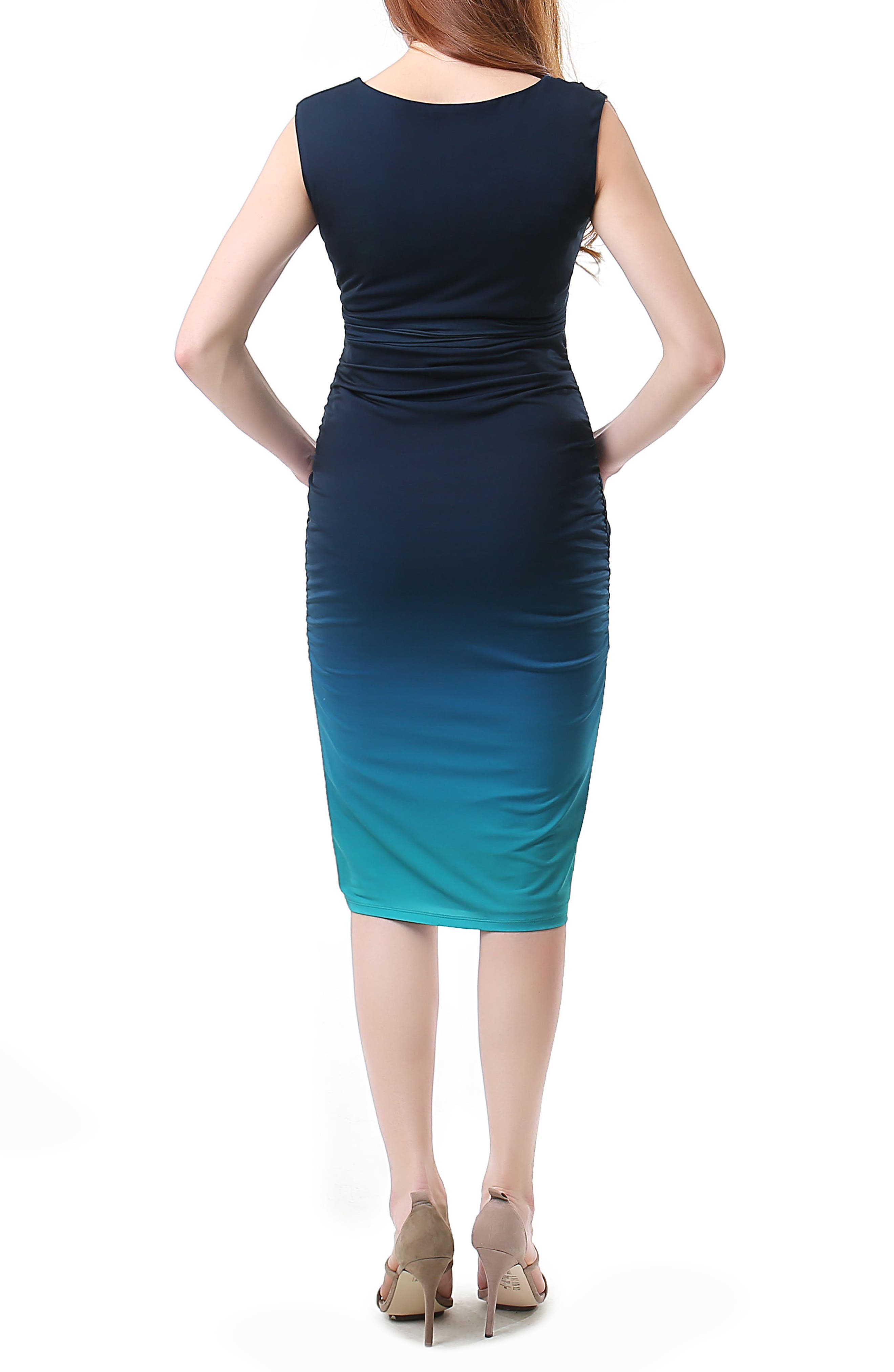 Maura Ruched Ombré Maternity Dress,                             Alternate thumbnail 2, color,                             440