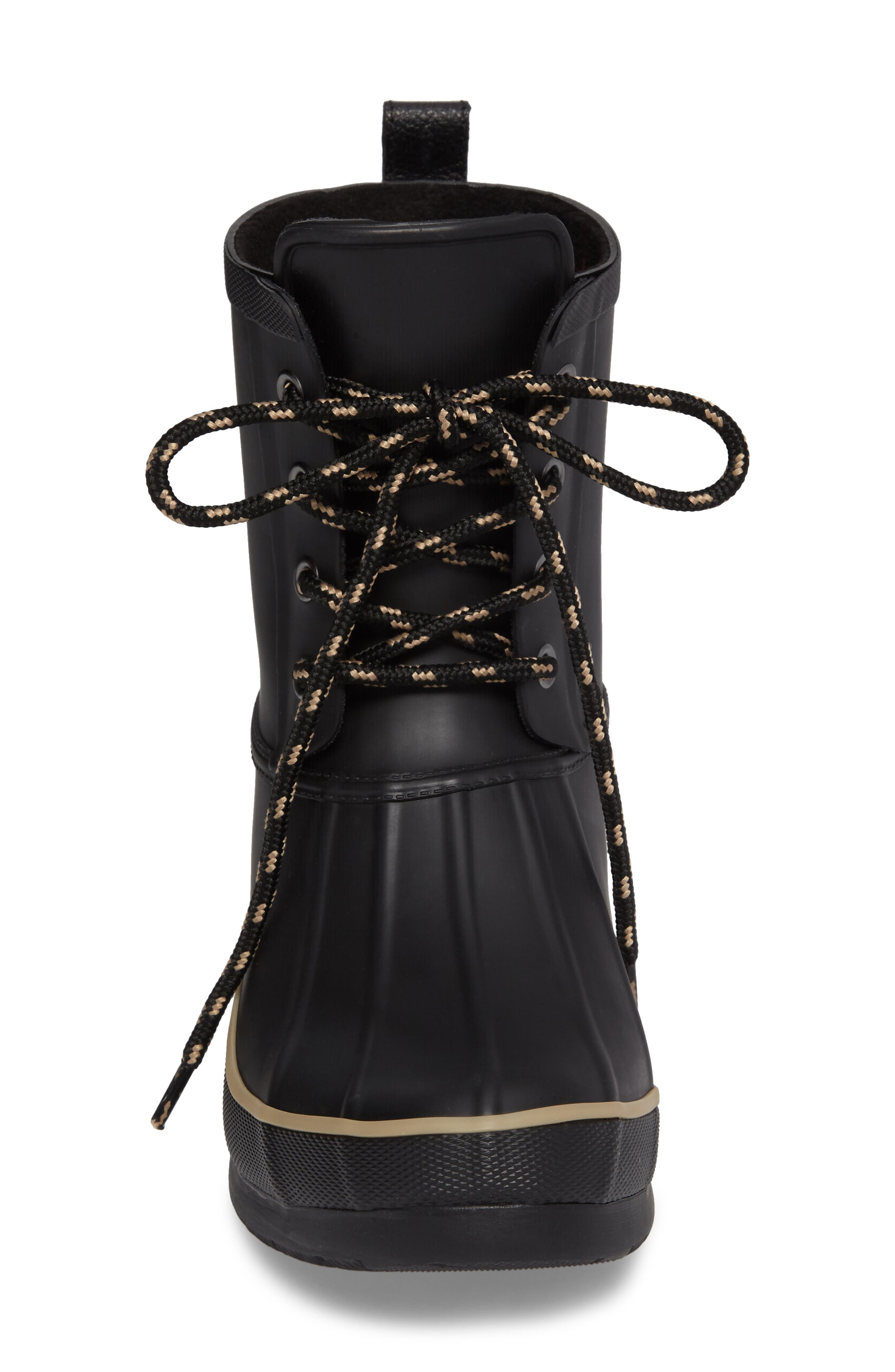 Classic Lace-Up Duck Boot,                             Alternate thumbnail 4, color,                             001