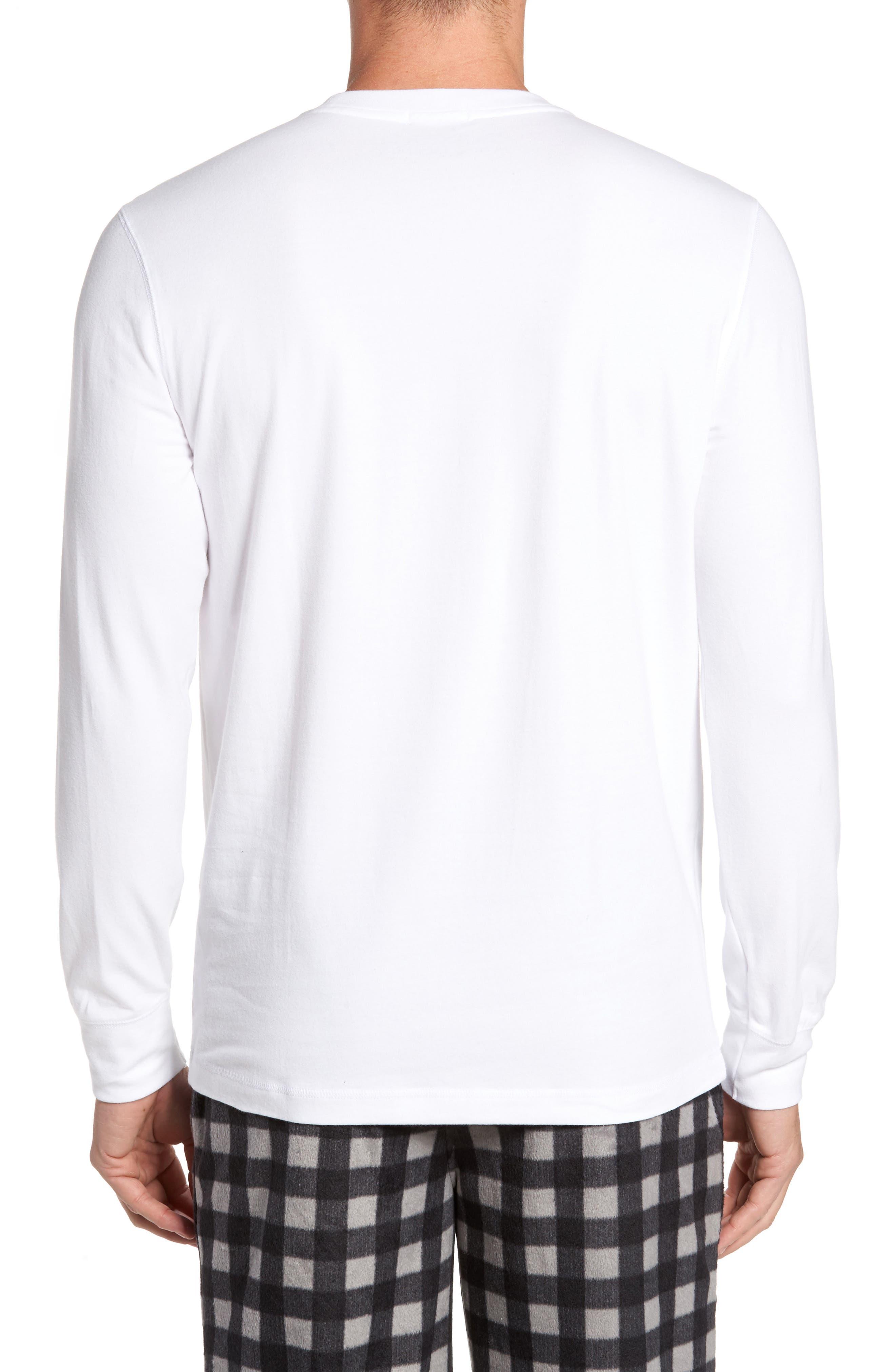 Stretch Cotton Long Sleeve T-Shirt,                             Alternate thumbnail 7, color,