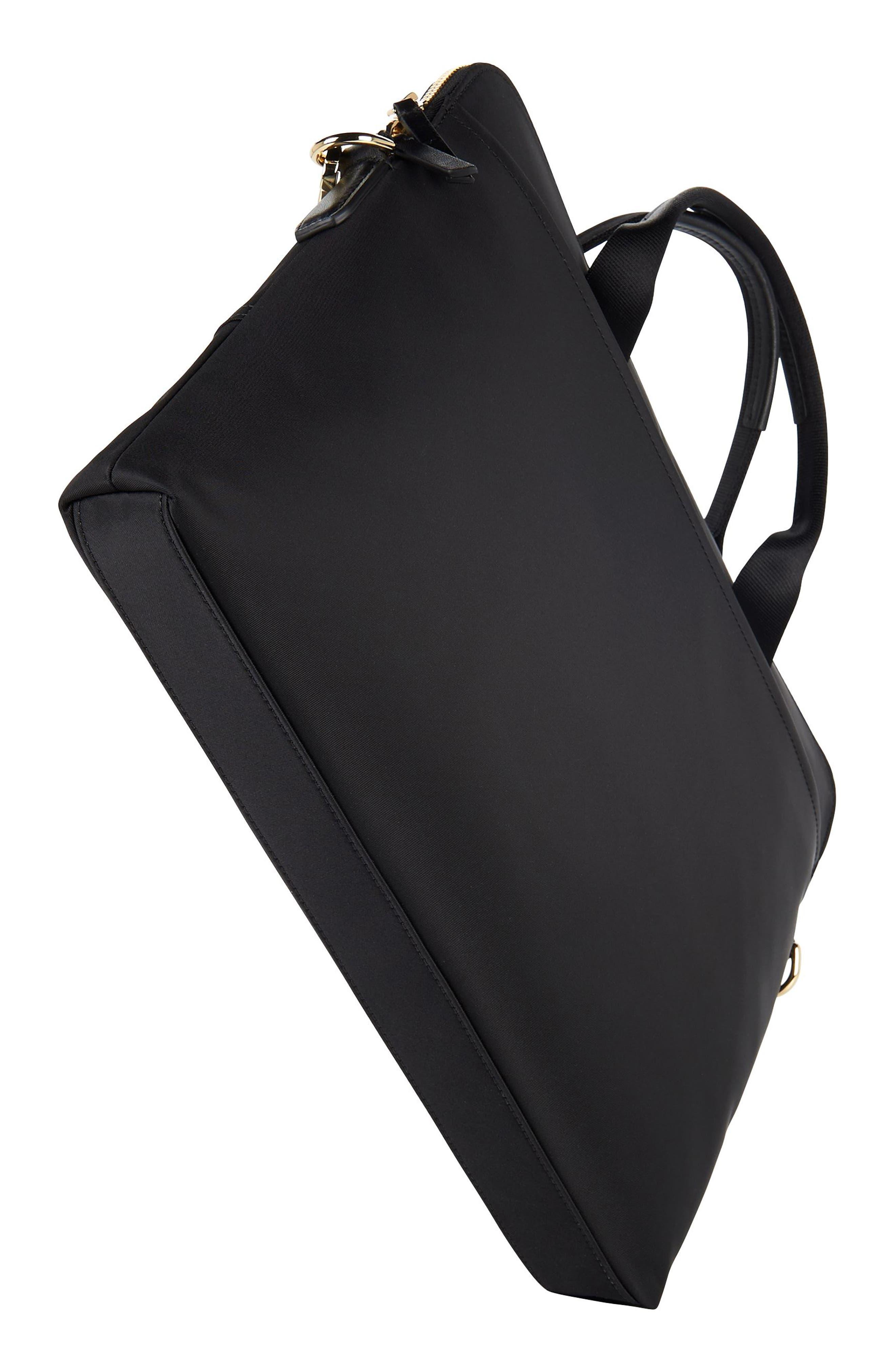 Voyageur - Joanne Nylon Laptop Carrier,                             Alternate thumbnail 5, color,                             BLACK