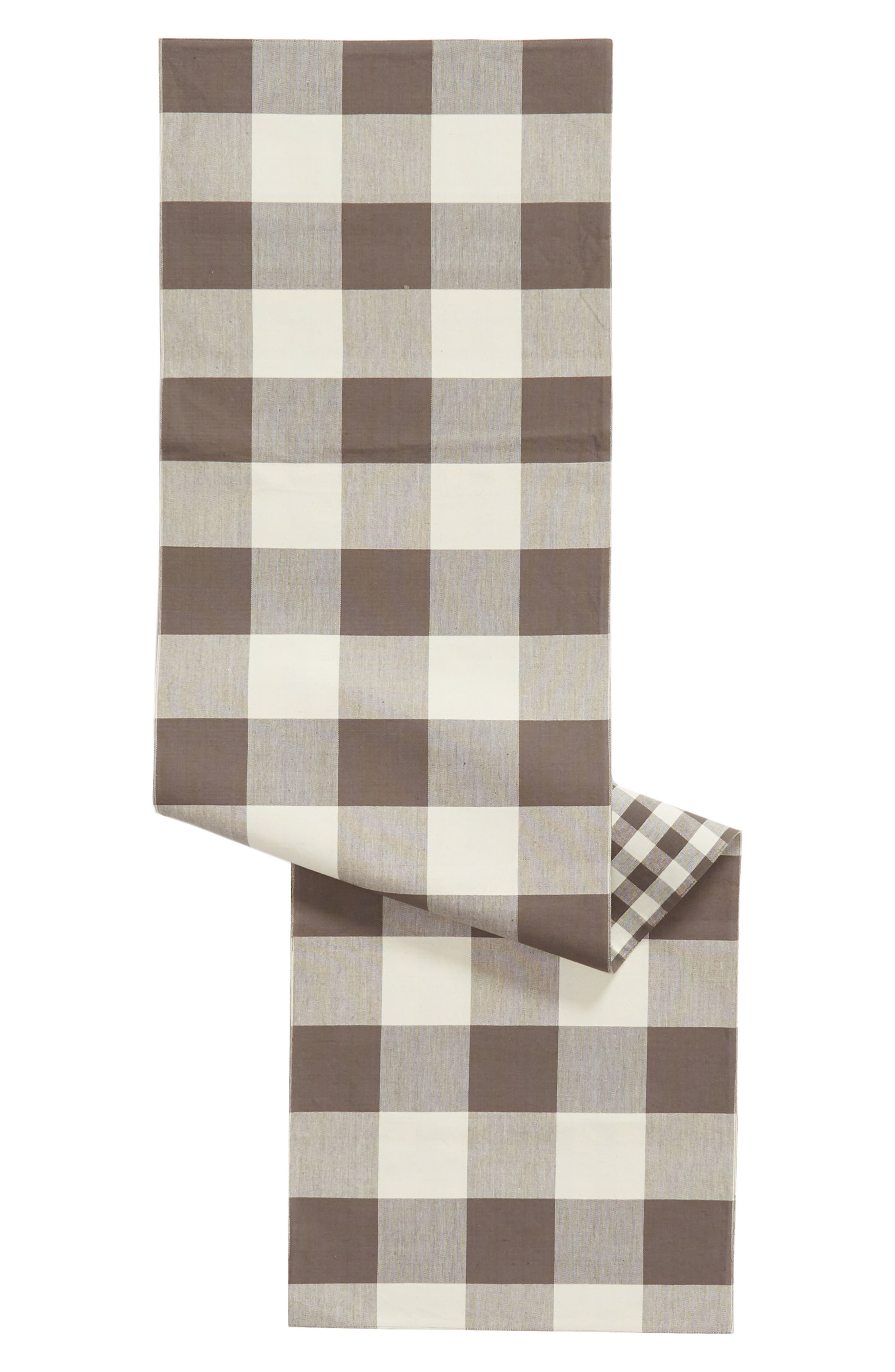 Buffalo Check Table Runner,                             Main thumbnail 1, color,                             020