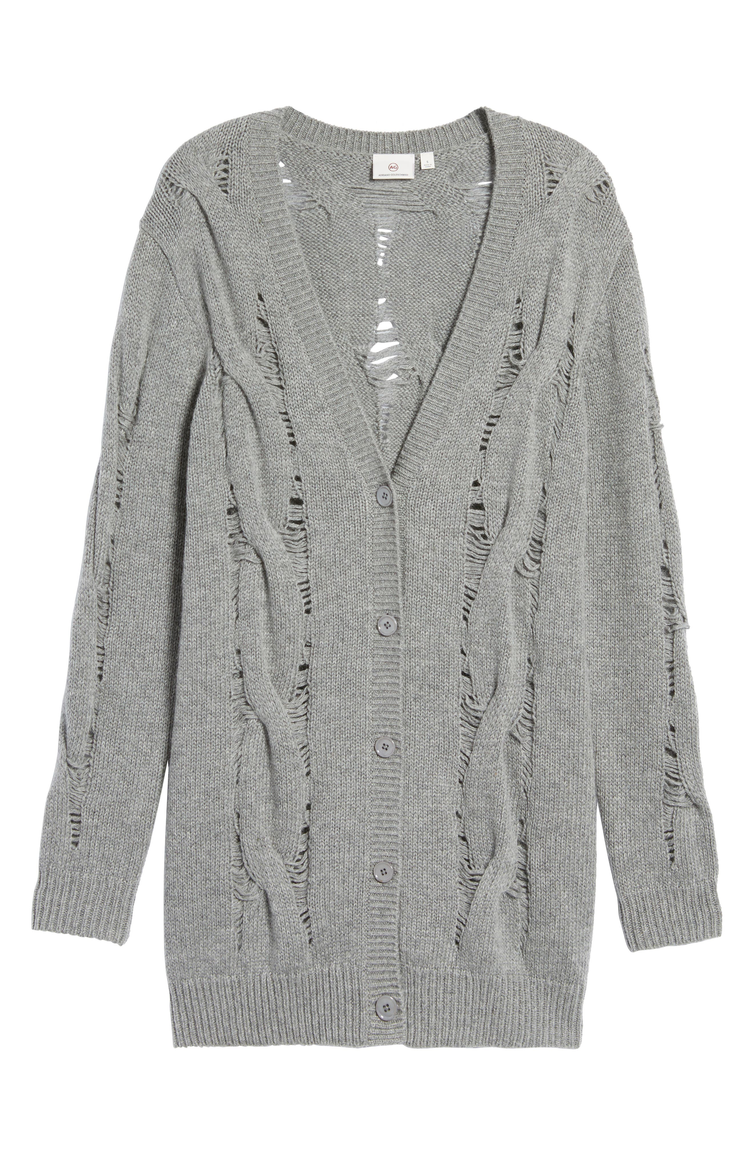 Sandrine Longline Cardigan Sweater,                             Alternate thumbnail 6, color,                             033