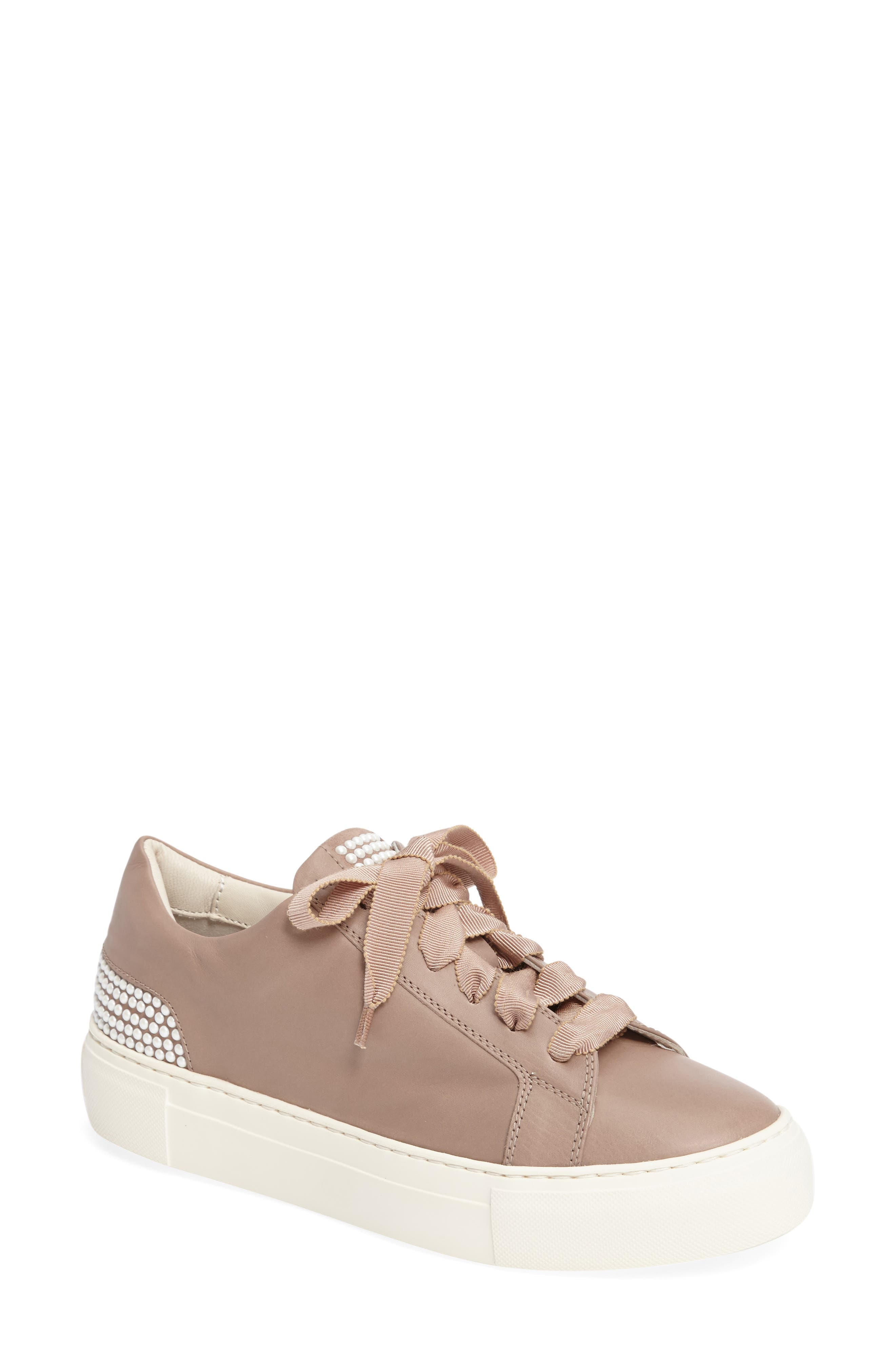 Pearl Sneaker,                         Main,                         color, PALE LEATHER
