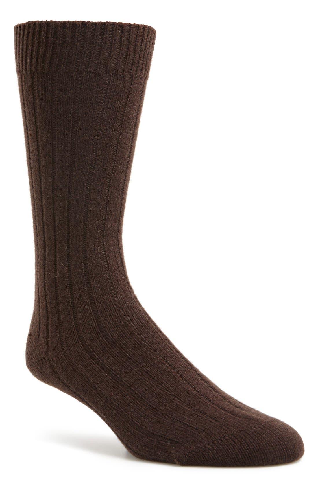 'Waddington' Cashmere Blend Mid Calf Socks,                             Main thumbnail 6, color,