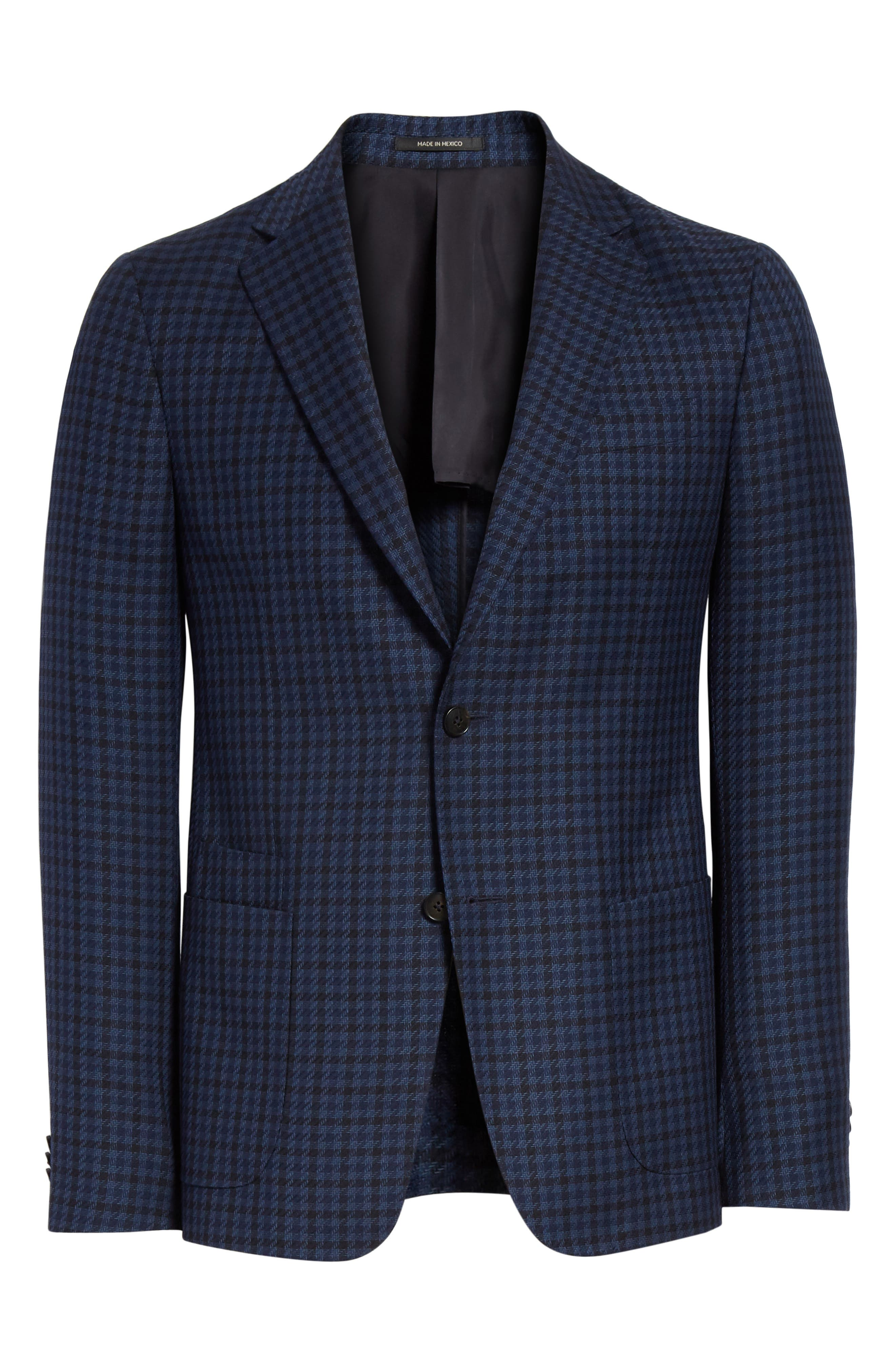 Trim Fit Houndstooth Wool Sport Coat,                             Alternate thumbnail 5, color,                             416