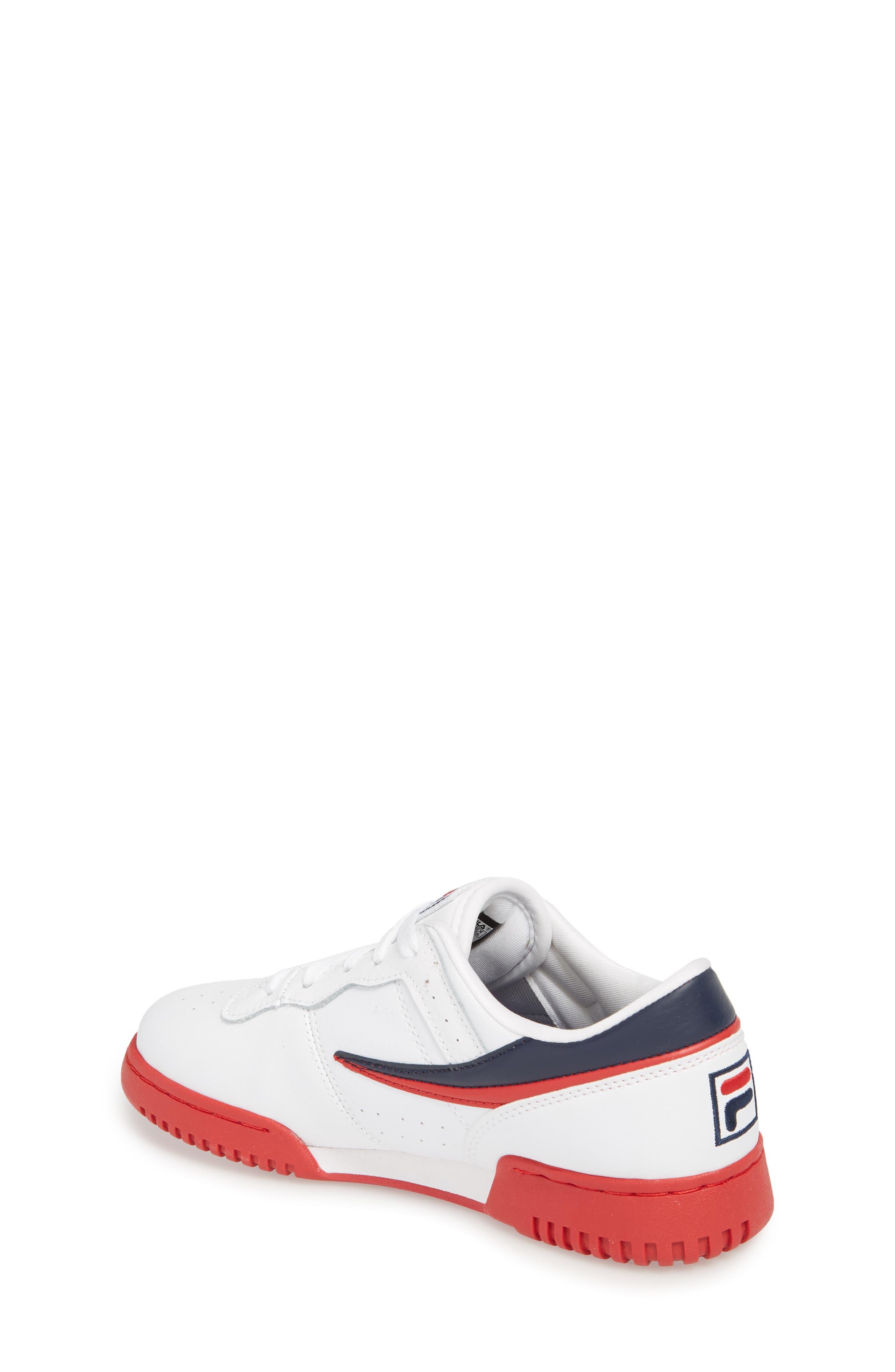 Original Fitness Sneaker,                             Alternate thumbnail 2, color,                             WHITE/ FILA RED