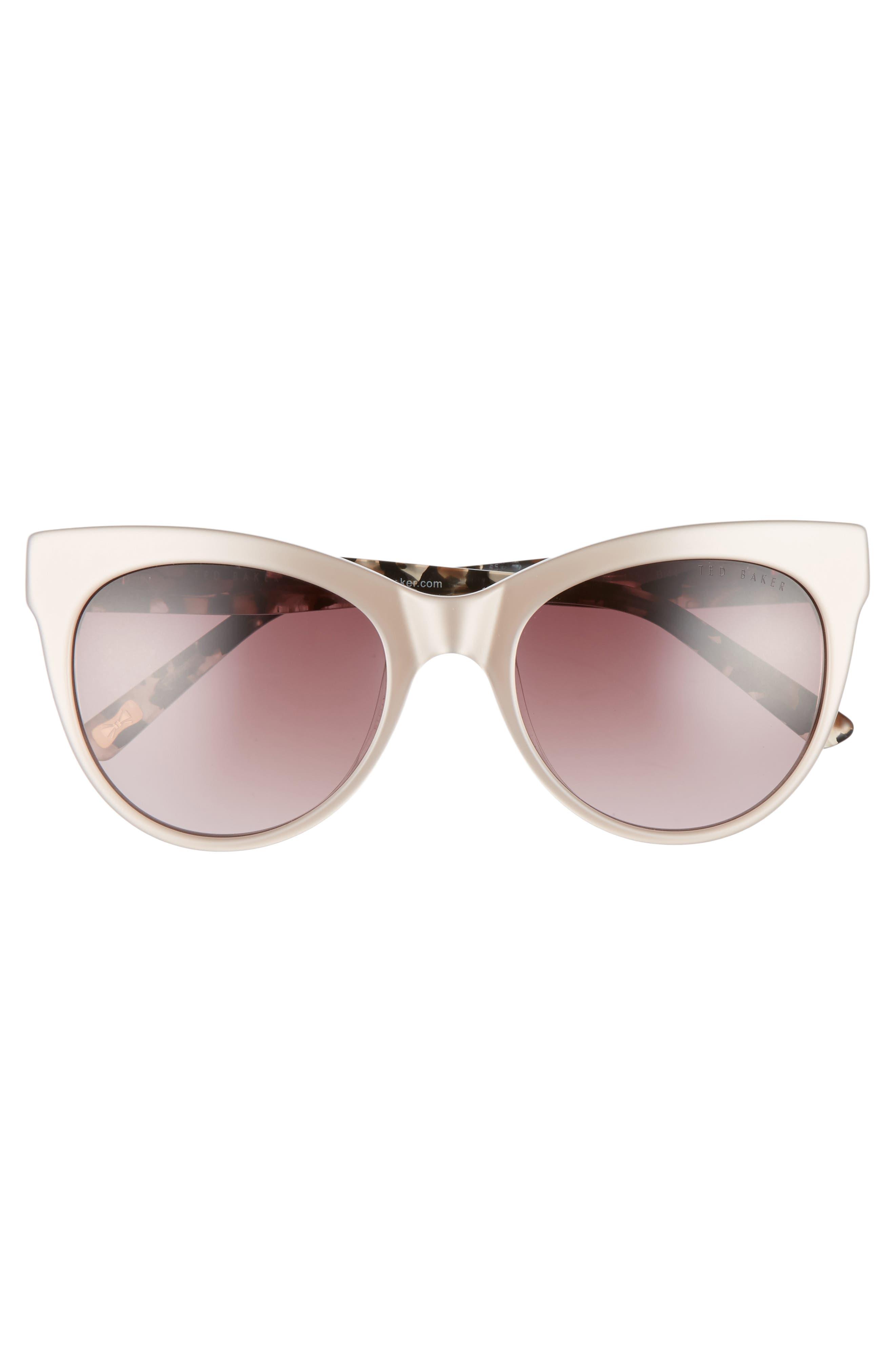 51mm Cat Eye Sunglasses,                             Alternate thumbnail 3, color,                             200