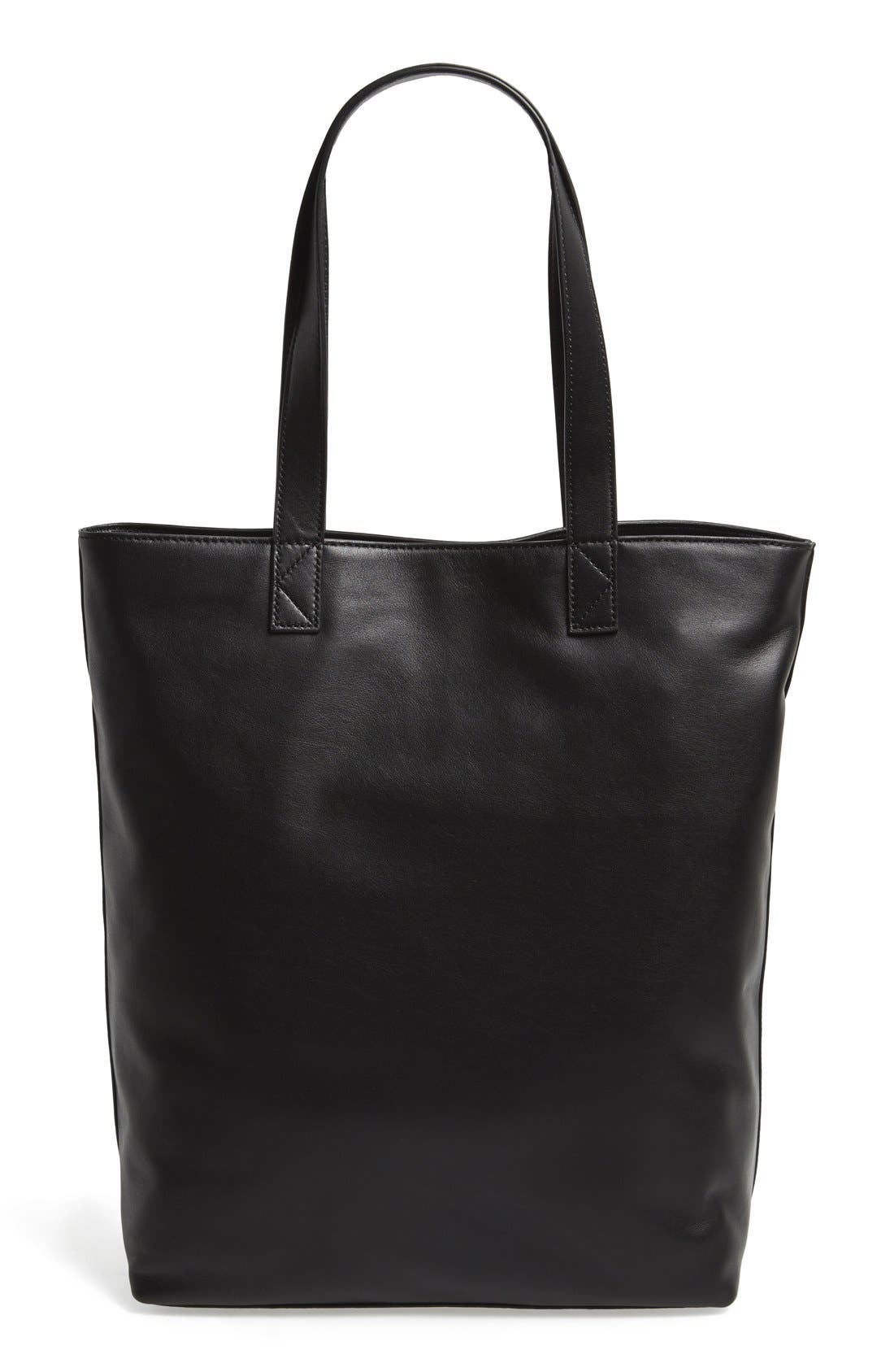 'Tiger' Leather Tote,                             Alternate thumbnail 2, color,                             001