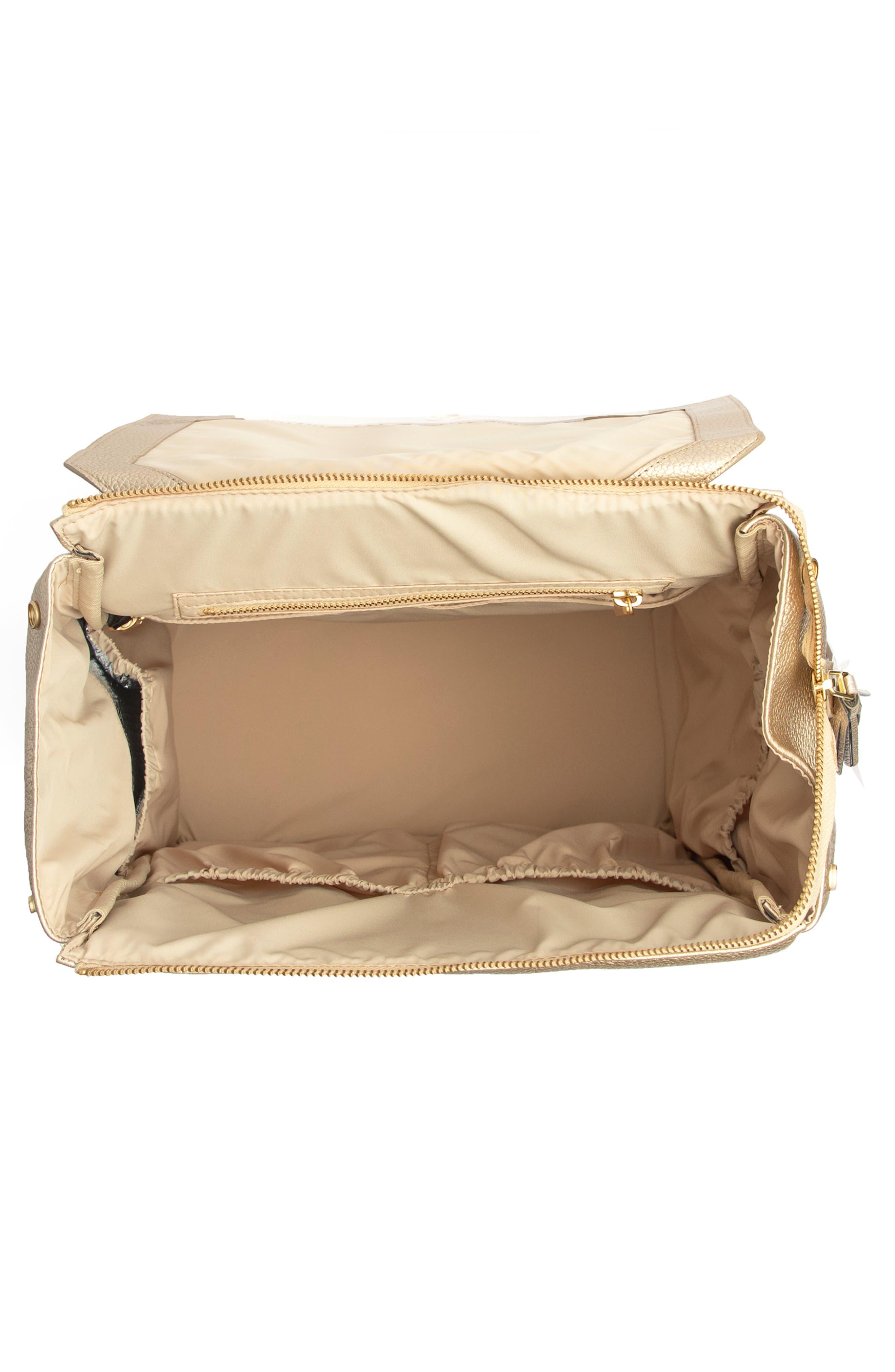 FRESHLY PICKED,                             Convertible Diaper Backpack,                             Alternate thumbnail 3, color,                             PLATINUM METALLIC
